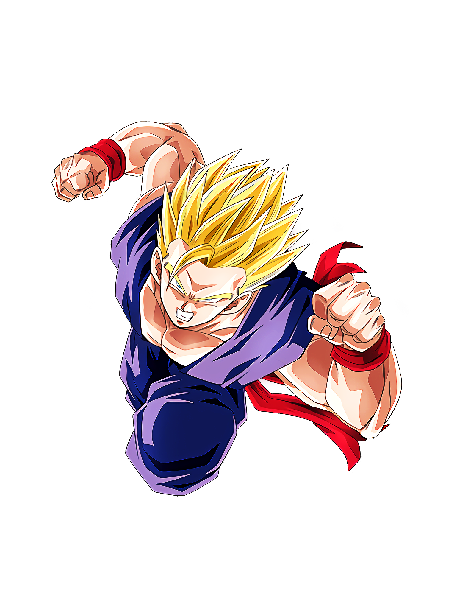 Vanguard Warrior's True Value Super Saiyan 2 Gohan Teen Render (Dragon Ball Z Dokkan Battle) .png