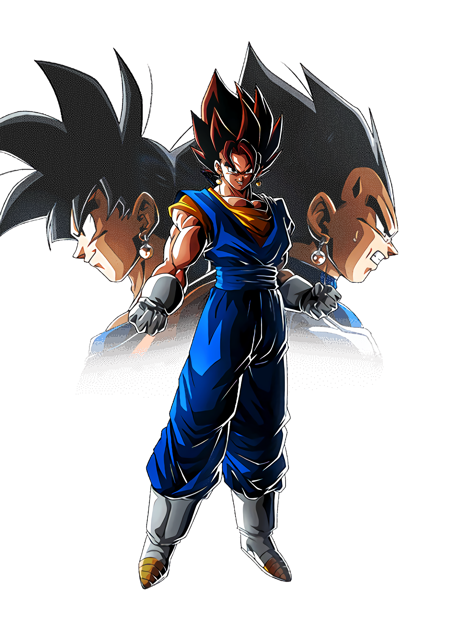 The Ultimate Invincible Fusion Vegito Character 2 HD Render (Dragon Ball Z Dokkan Battle) .png