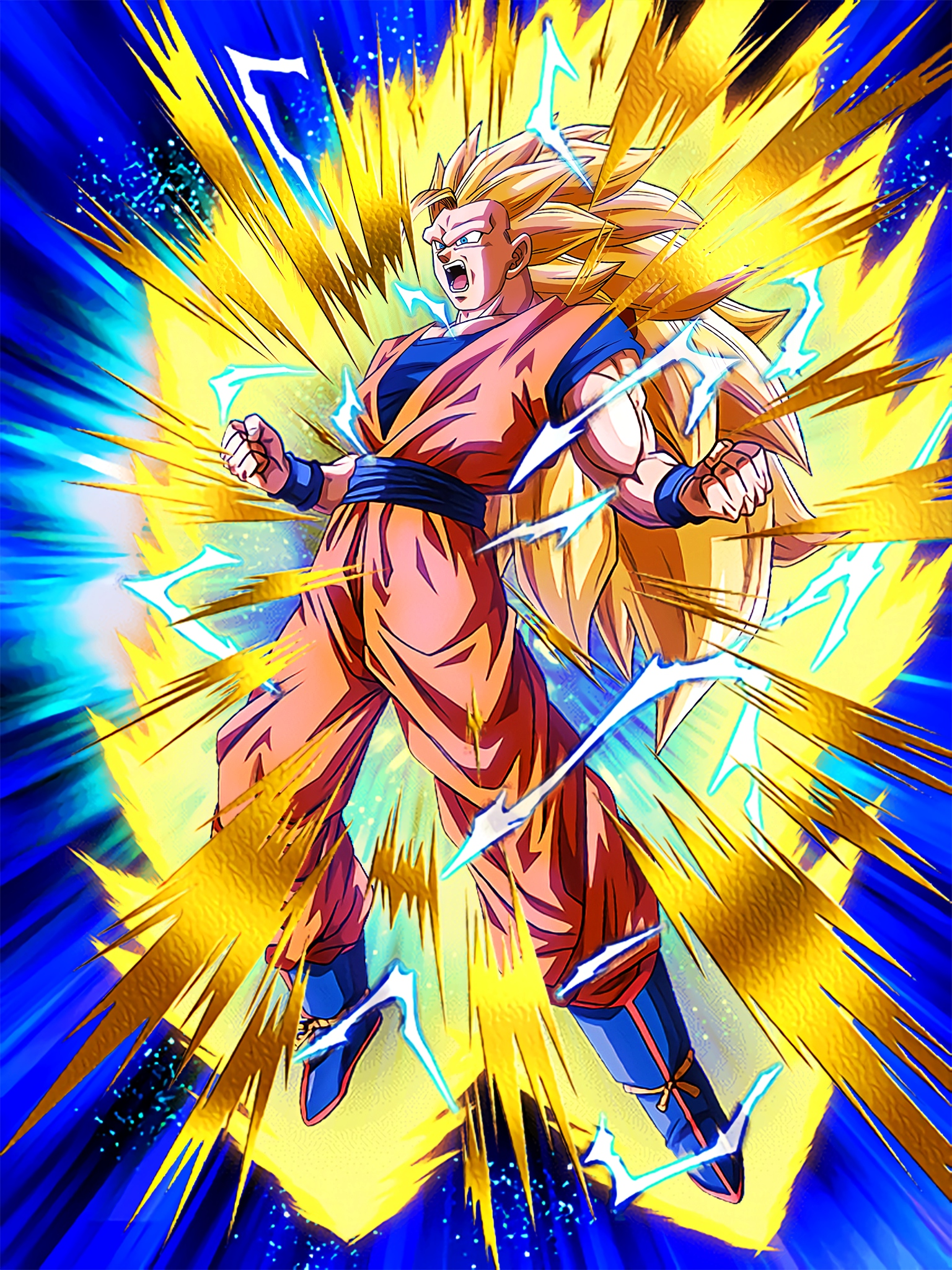 Stunning Metamorphosis Super Saiyan 3 Goku Art (Dragon Ball Z Dokkan Battle).jpg