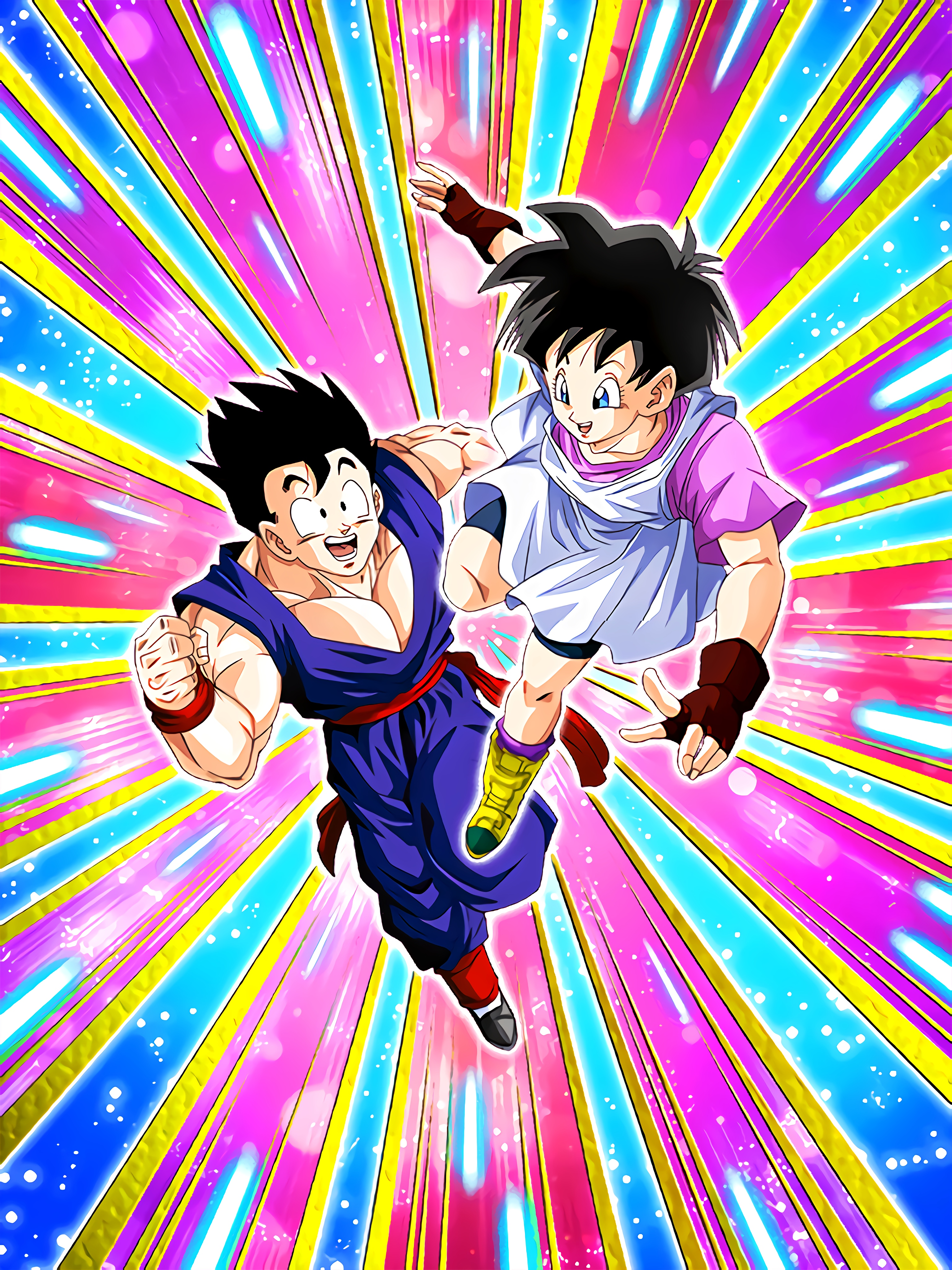 Brave Two Gohan Teen & Videl Art (Dragon Ball Z Dokkan Battle)