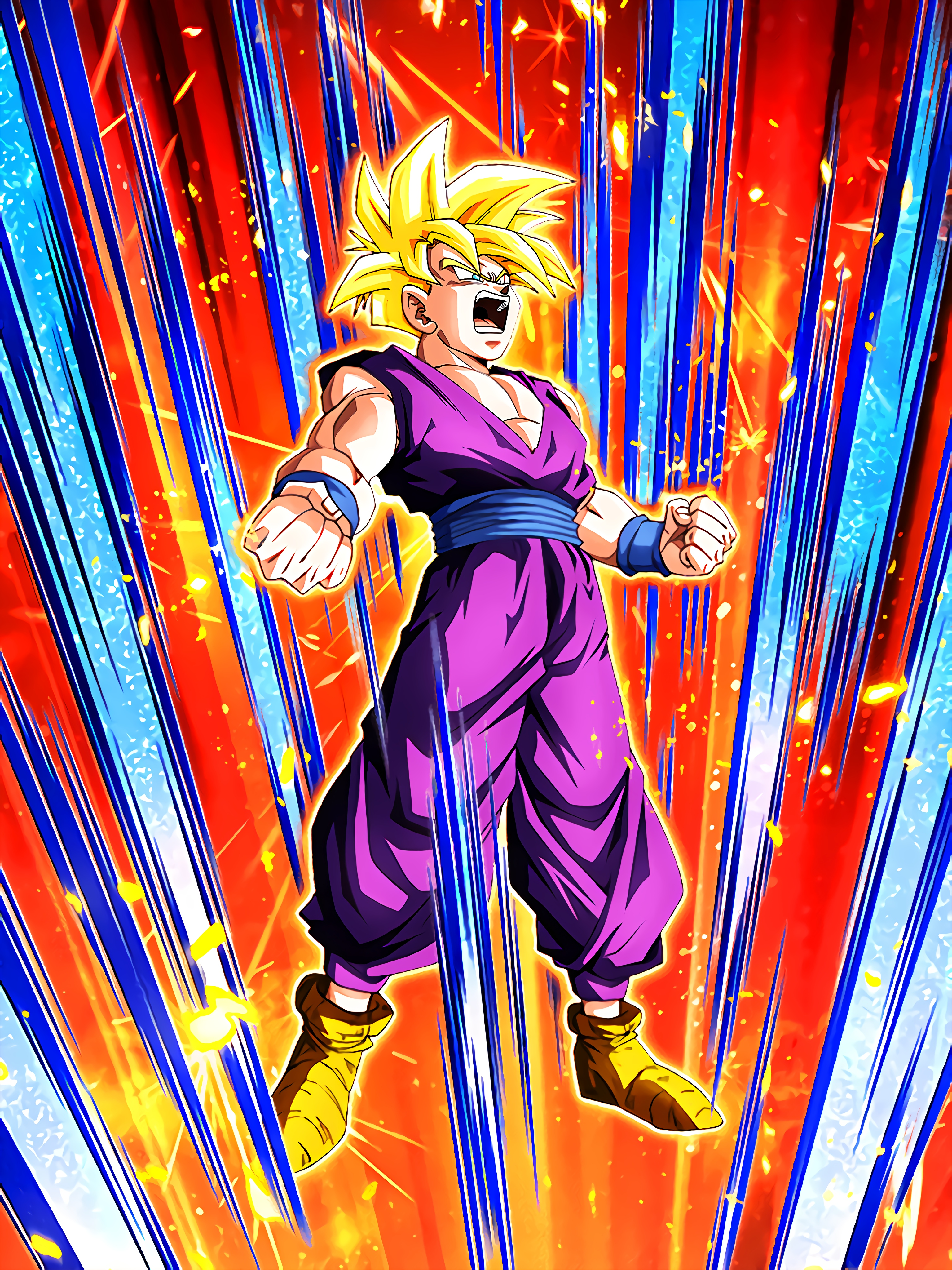 Warrior Beyond Goku Super Saiyan Gohan Youth Art (Dragon Ball Z Dokkan Battle).jpg