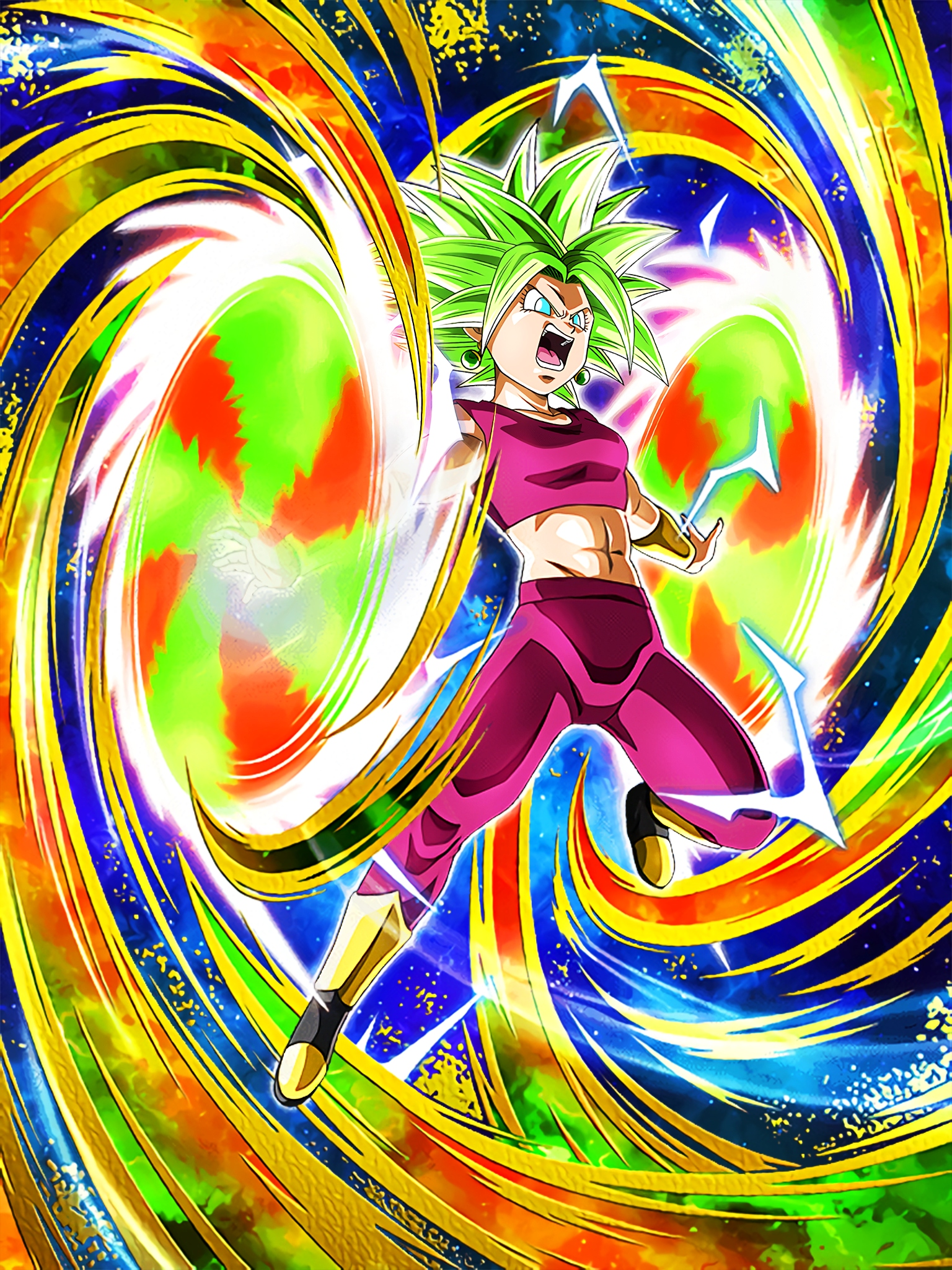 Kefla Dokkan Awakening Art (Dragon Ball Z Dokkan Battle)