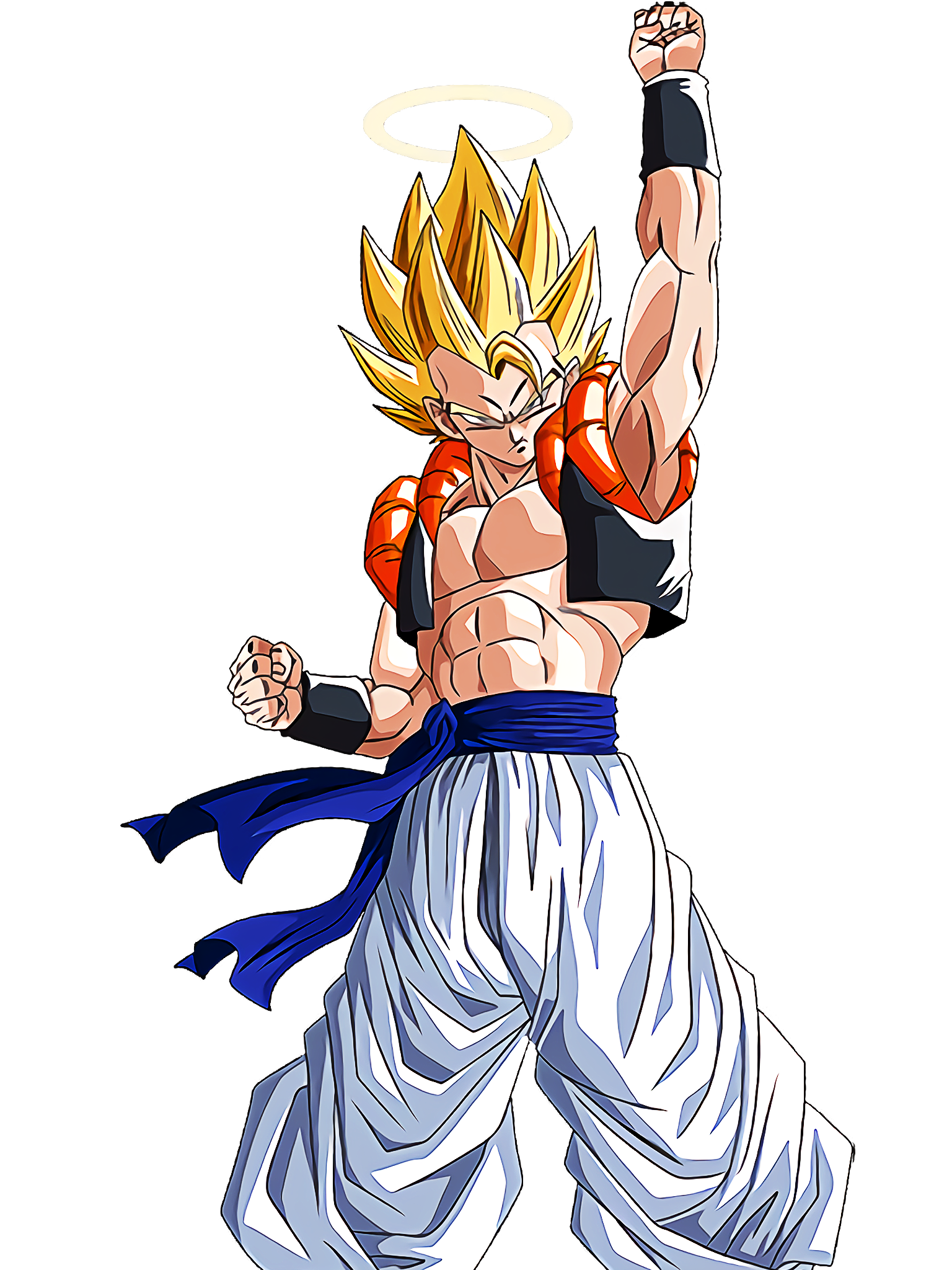 Super Gogeta Asset 2 Render (Dragon Ball Z Dokkan Battle) .png