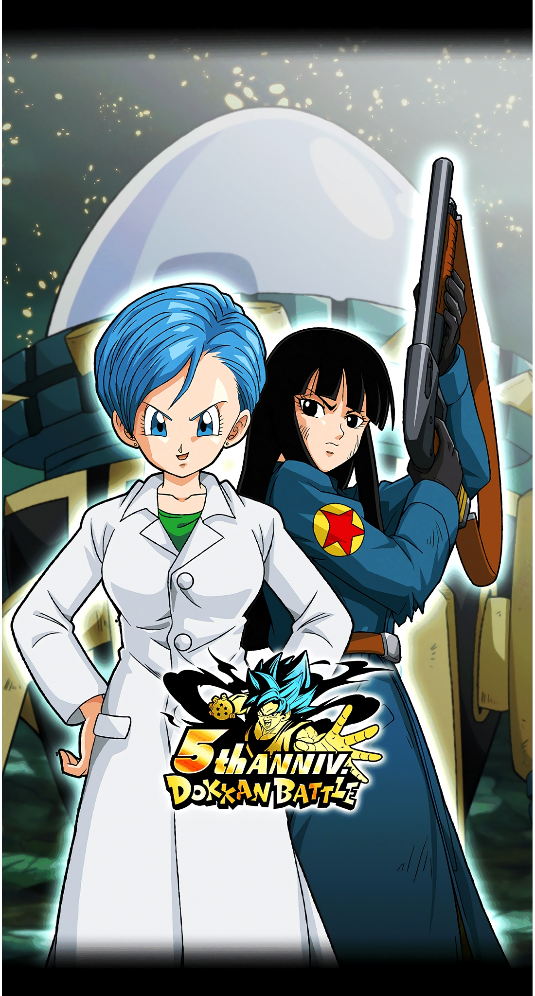 Bulma & Mai 5 Year Anniversary Art (Dragon Ball Z Dokkan Battle).jpg