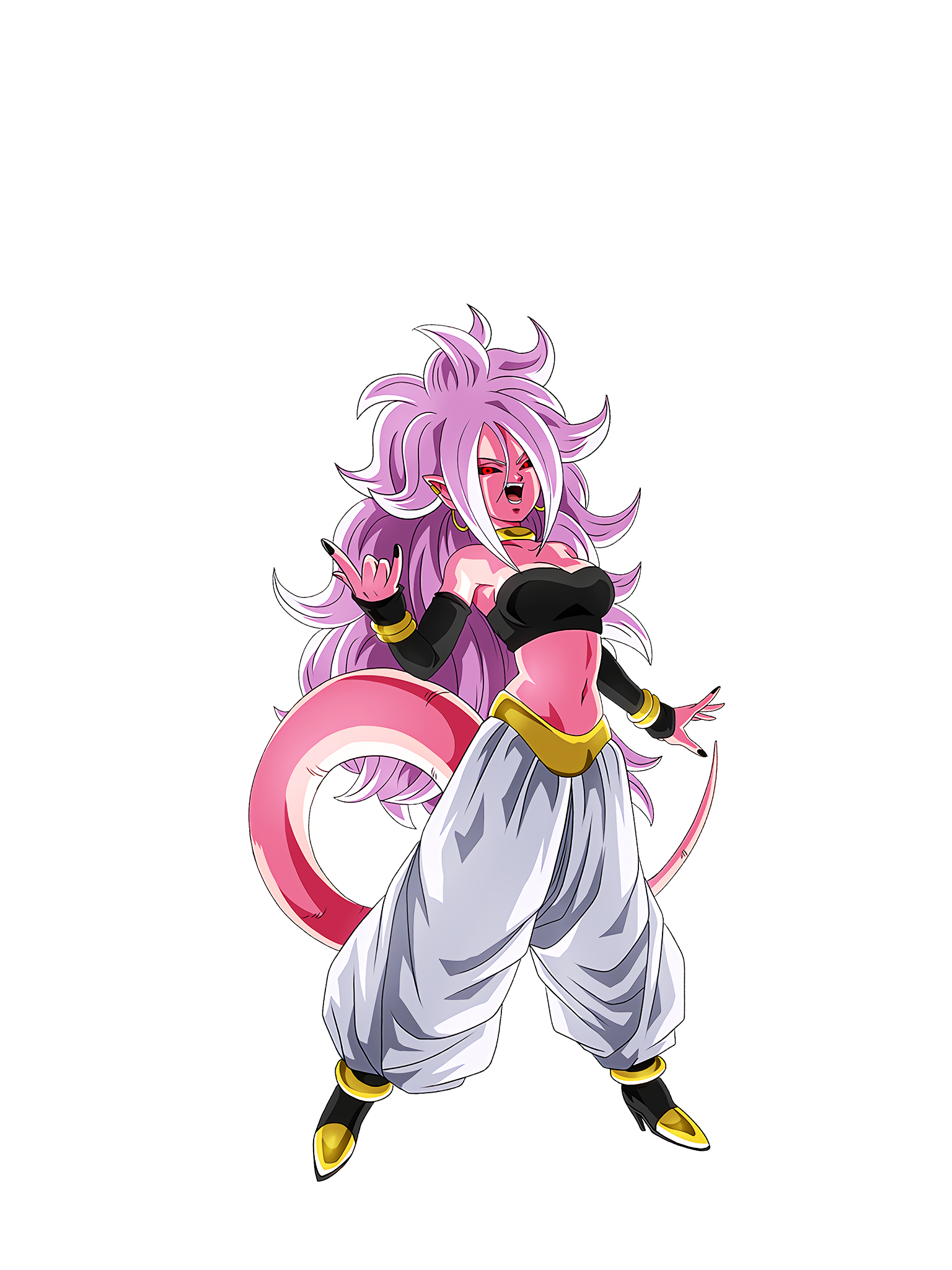 Android 21 Laughs Render (Dragon Ball Z Dokkan Battle).png