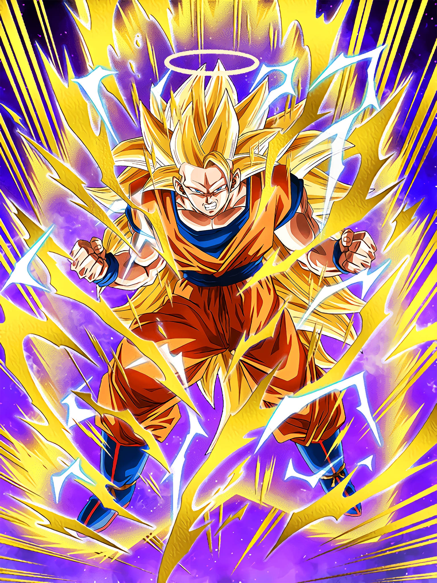 Extreme Power Brawl Super Saiyan 3 Goku Angel Art Dragon Ball Z Dokkan Battle Jpg Wallpaper Aiktry