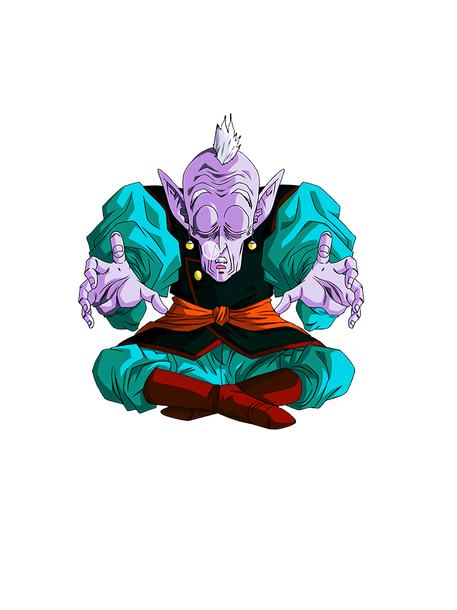 A Faint Breath Elder Kai Snooze Render (Dragon Ball Z Dokkan Battle) .png