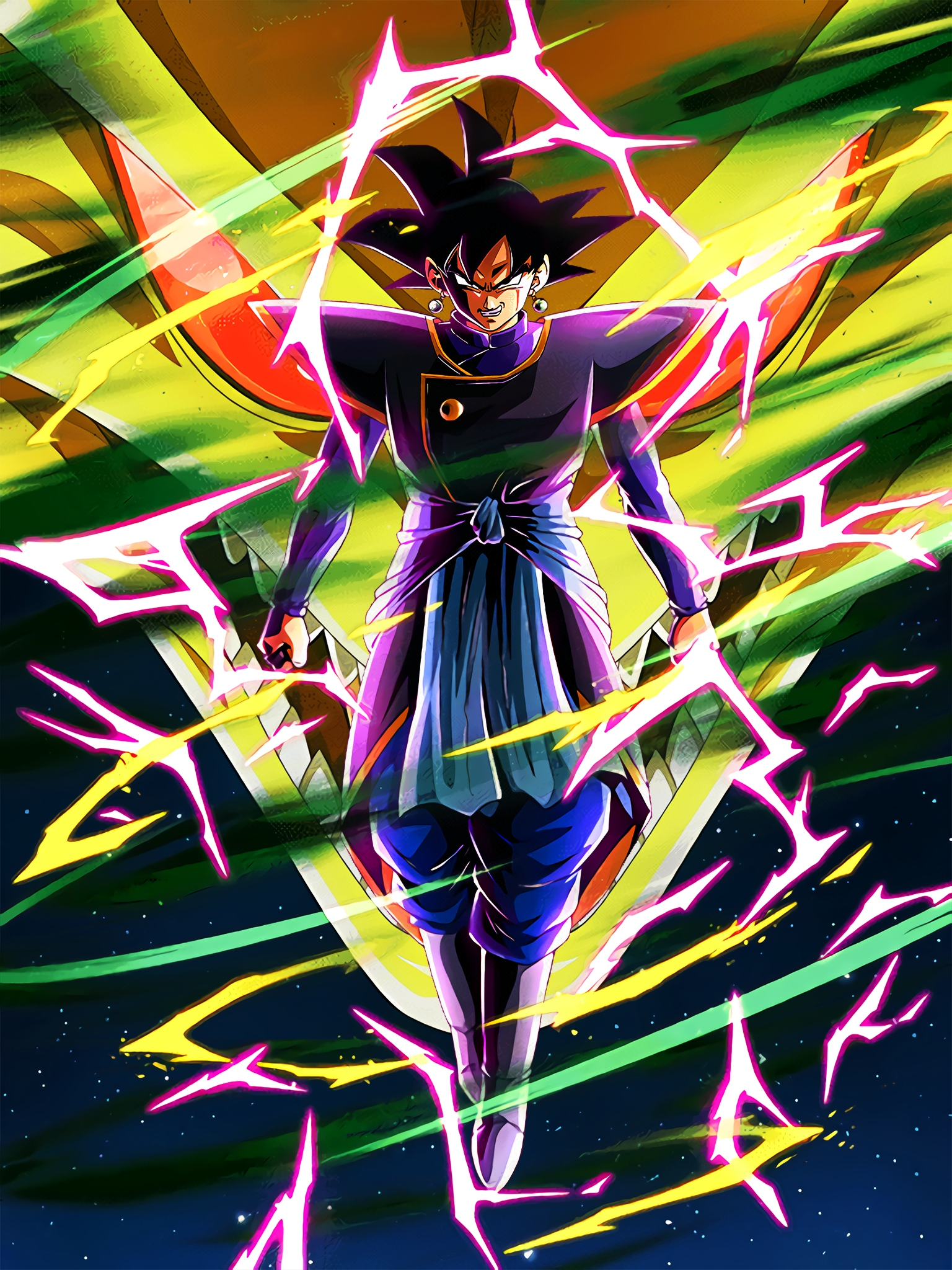 Beginning of Jet-Black Justice Zamasu Goku Art (Dragon Ball Z Dokkan Battle).jpg