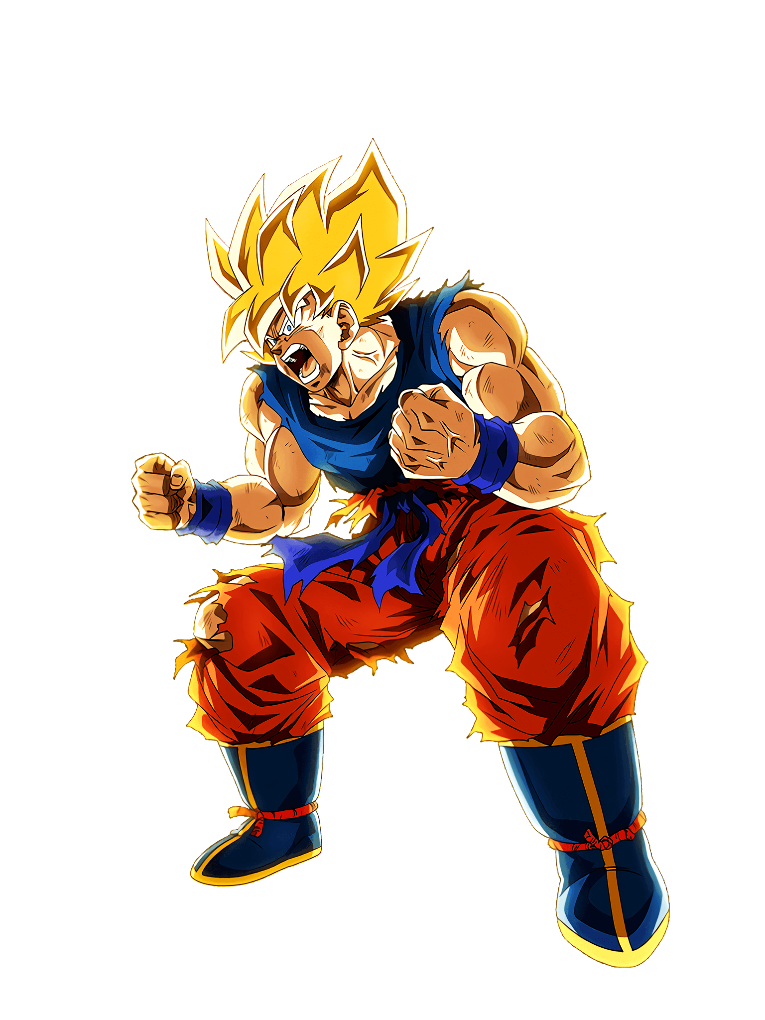 Extreme Rage Super Saiyan Goku Rage Mode Render (Dragon Ball Z Dokkan Battle) .png
