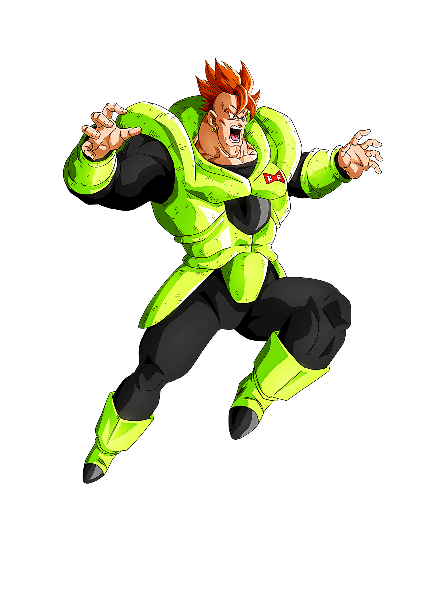 In Resurrection Android 16 Character Render (Dragon Ball Z Dokkan Battle) .png