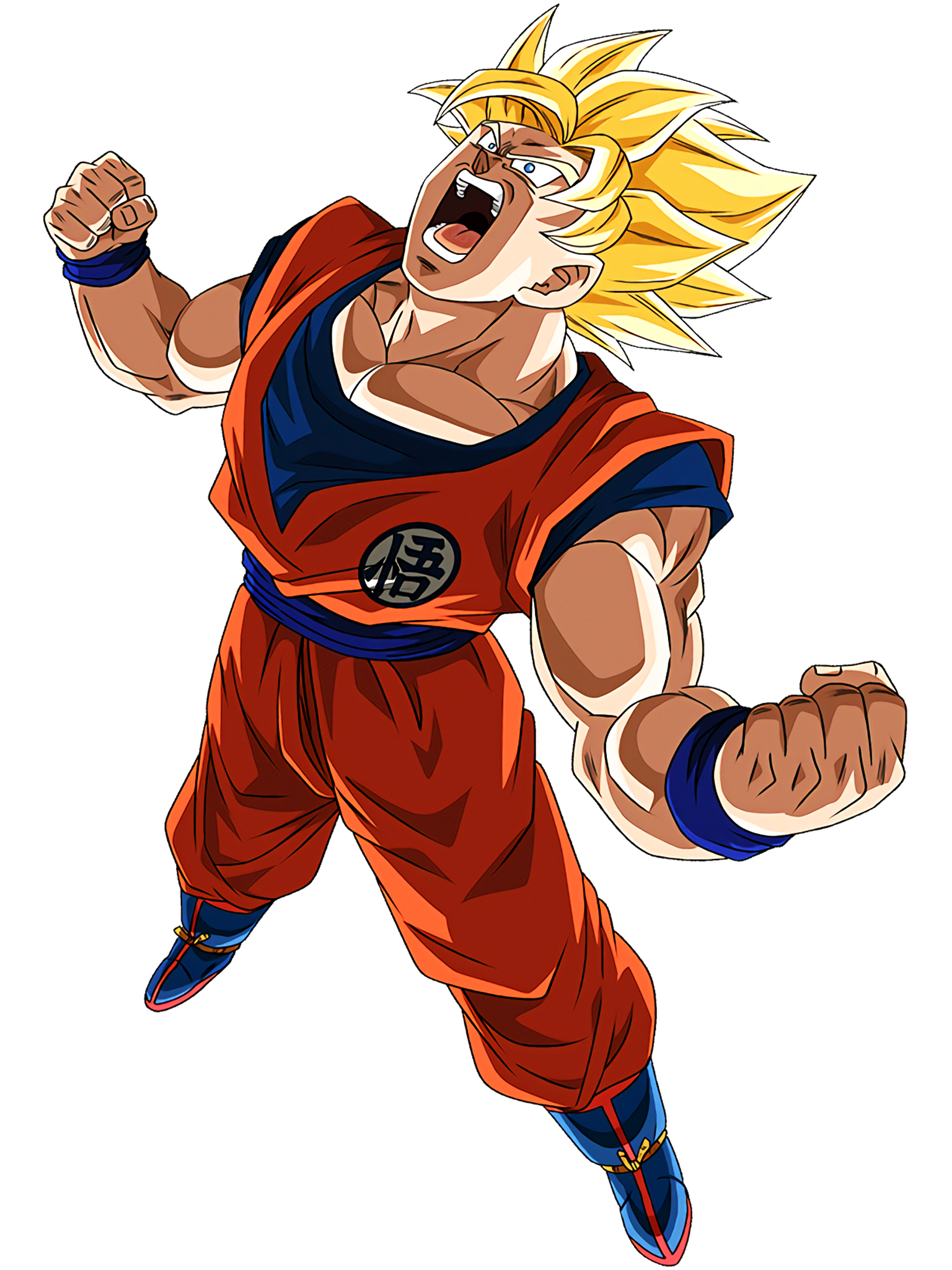 Saiyans of a New Dimension Super Saiyan Goku Character 2 HD Render (Dragon Ball Z Dokkan Battle) .png