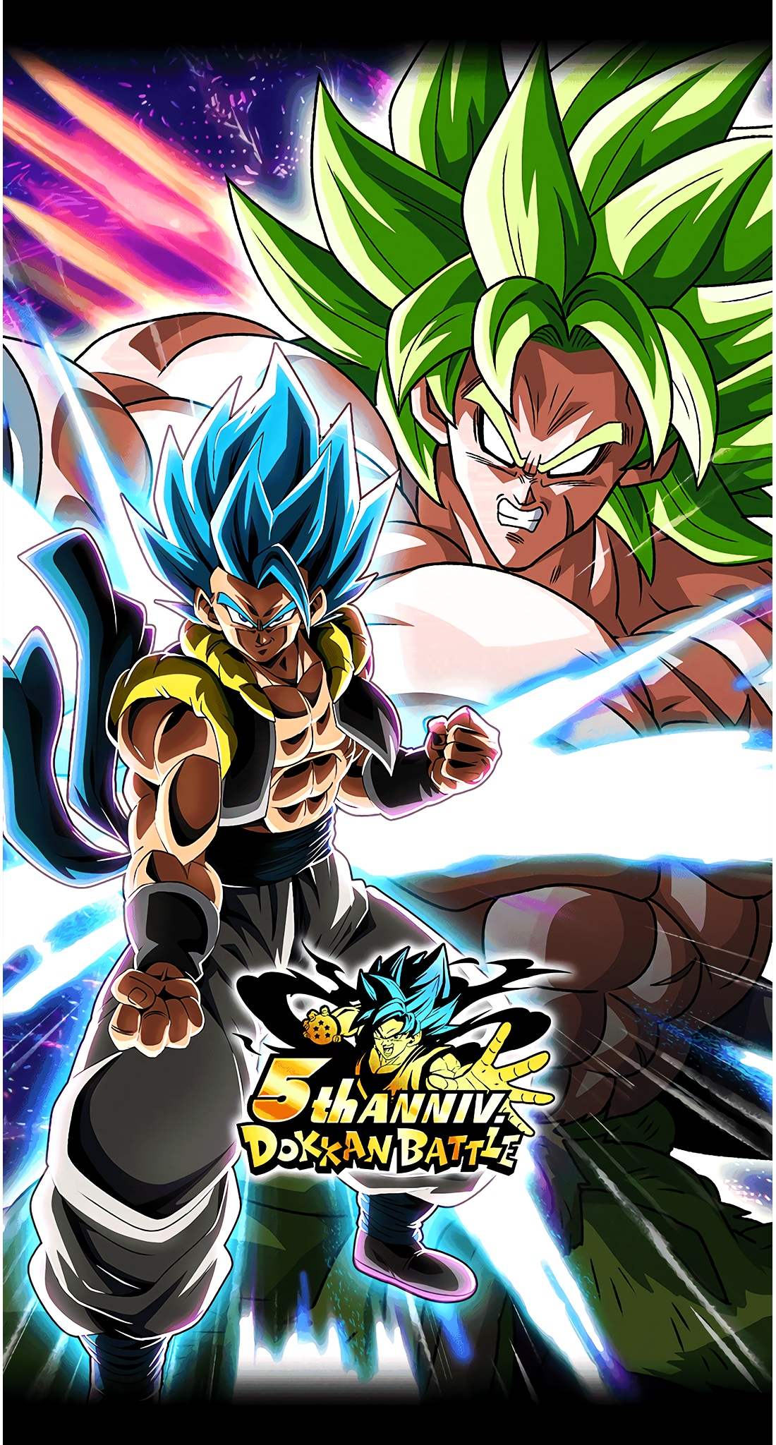 Movie Broly vs Gogeta Blue 5 Year Anniversary Art (Dragon Ball Z Dokkan Battle).jpg