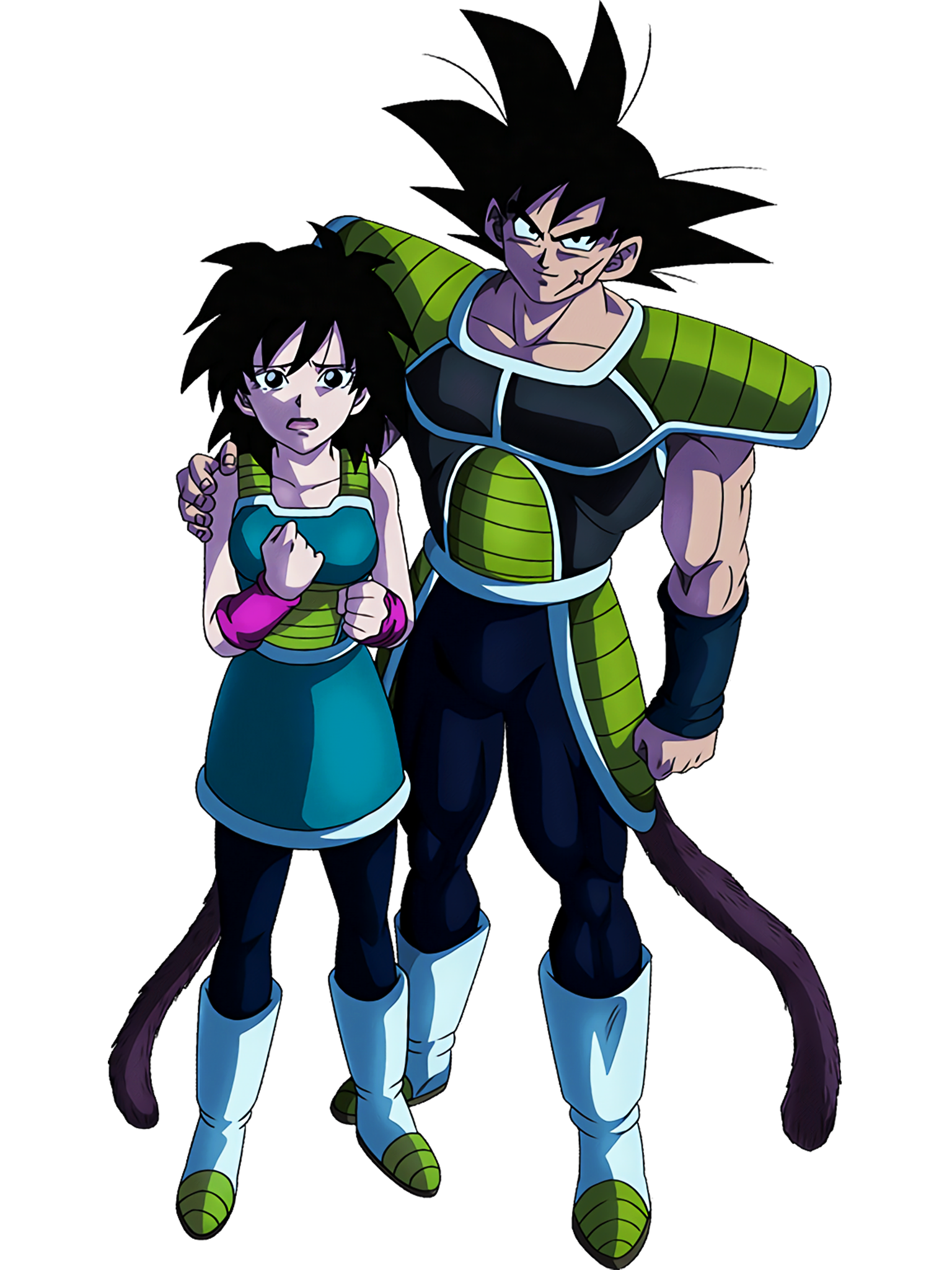 Bardock and Gine DBS Render (Dragon Ball Z Dokkan Battle).png