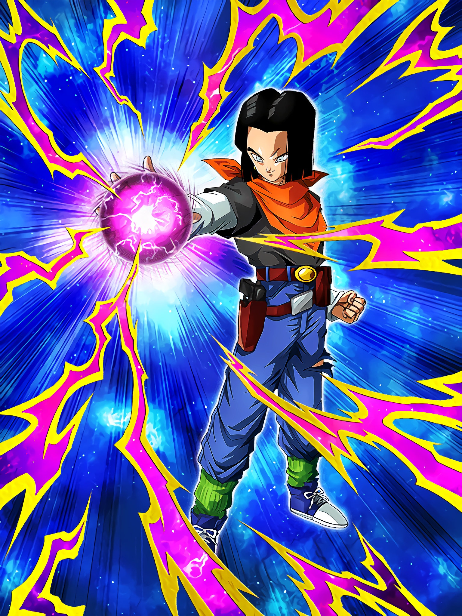 Integration of Two Technologies Hellfighter Android 17 Art (Dragon Ball Z Dokkan Battle).jpg