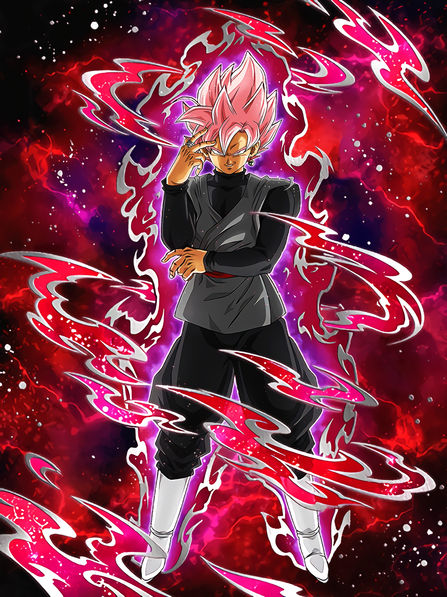 Beautiful Grasp Goku Black Super Saiyan Rosé Art (Dragon Ball Z Dokkan Battle).jpg