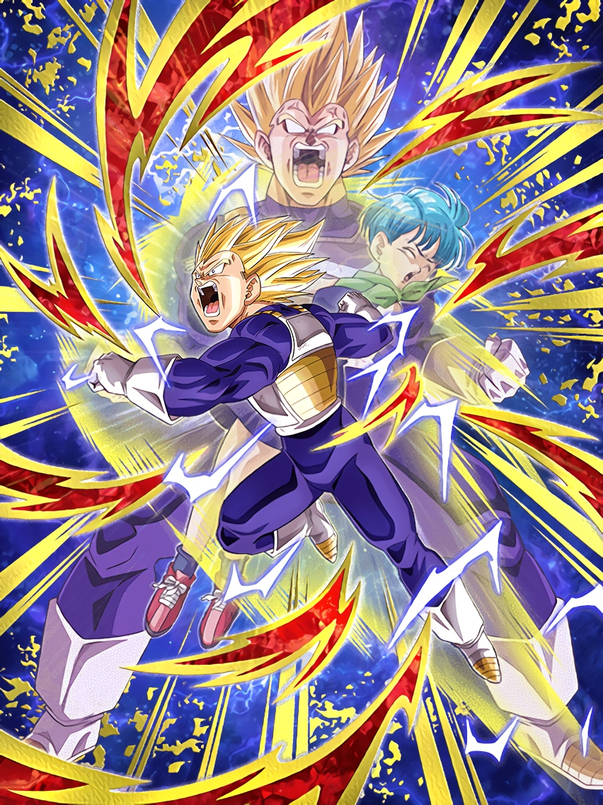 Outburst Of Emotions Super Saiyan 2 Vegeta & Bulma  Art (Dragon Ball Z Dokkan Battle)