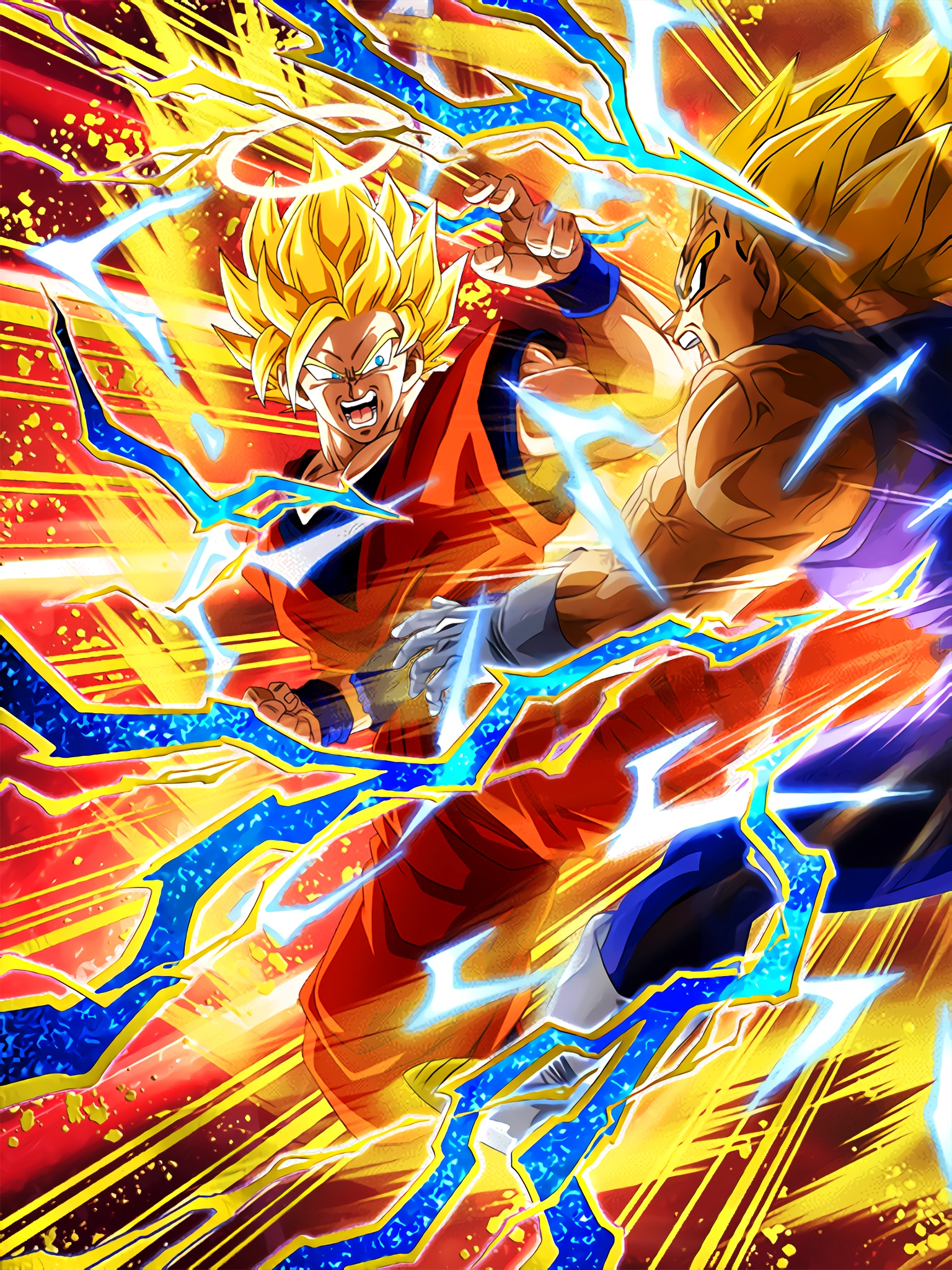 Desperate Showdown Super Saiyan 2 Goku Angel Art (Dragon Ball Z Dokkan Battle)