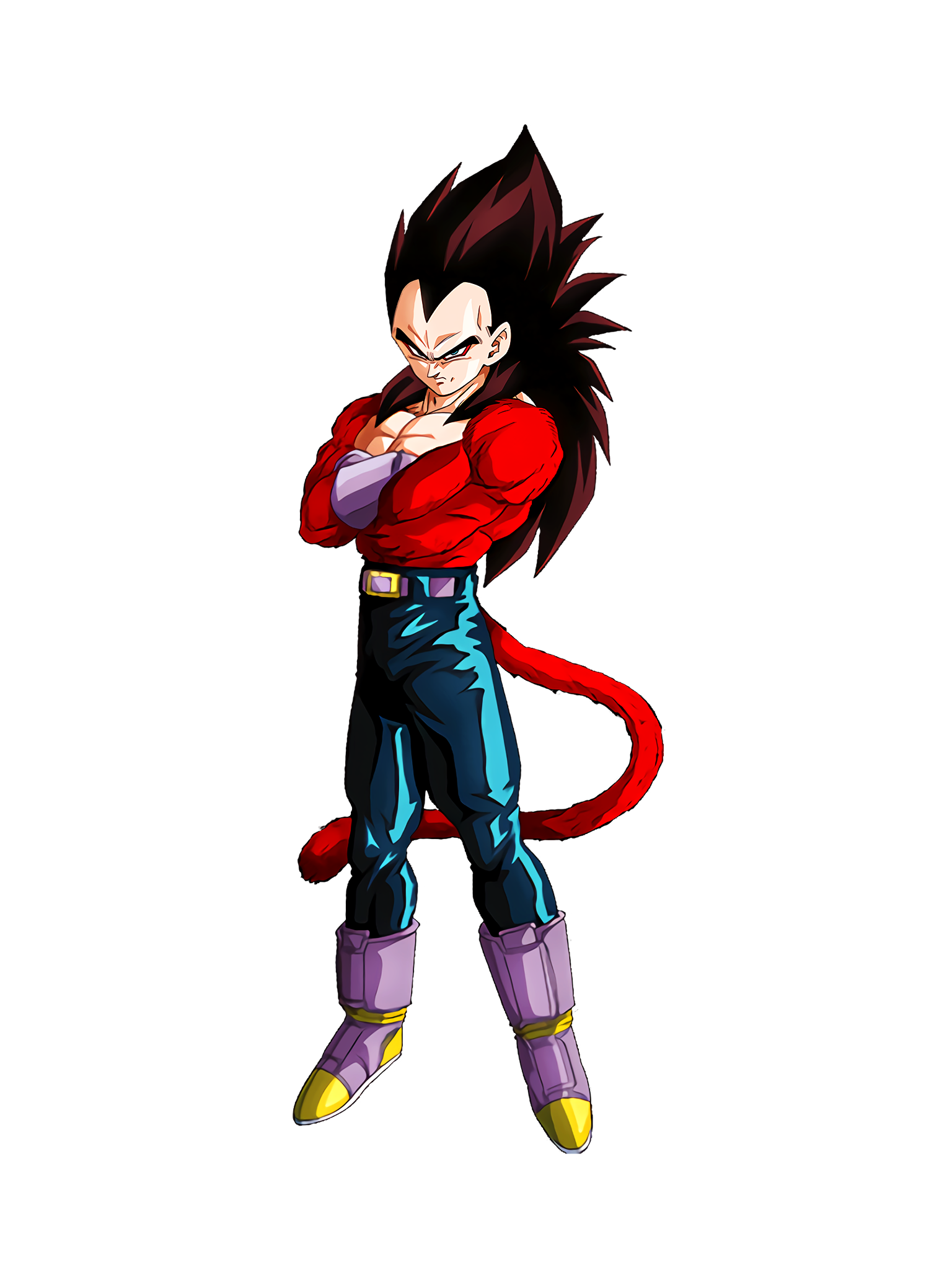 Indomitable Arousal Super Saiyan 4 Vegeta GT Render (Dragon Ball Z Dokkan Battle).png