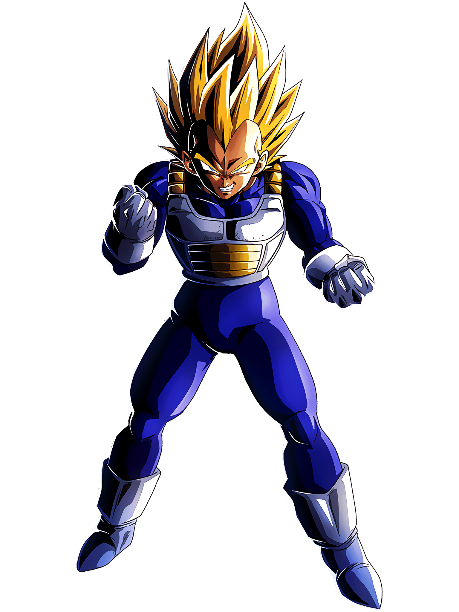 Blood of a Super Saiyan Awakens Super Saiyan Vegeta Render (Dragon Ball Z Dokkan Battle) .png