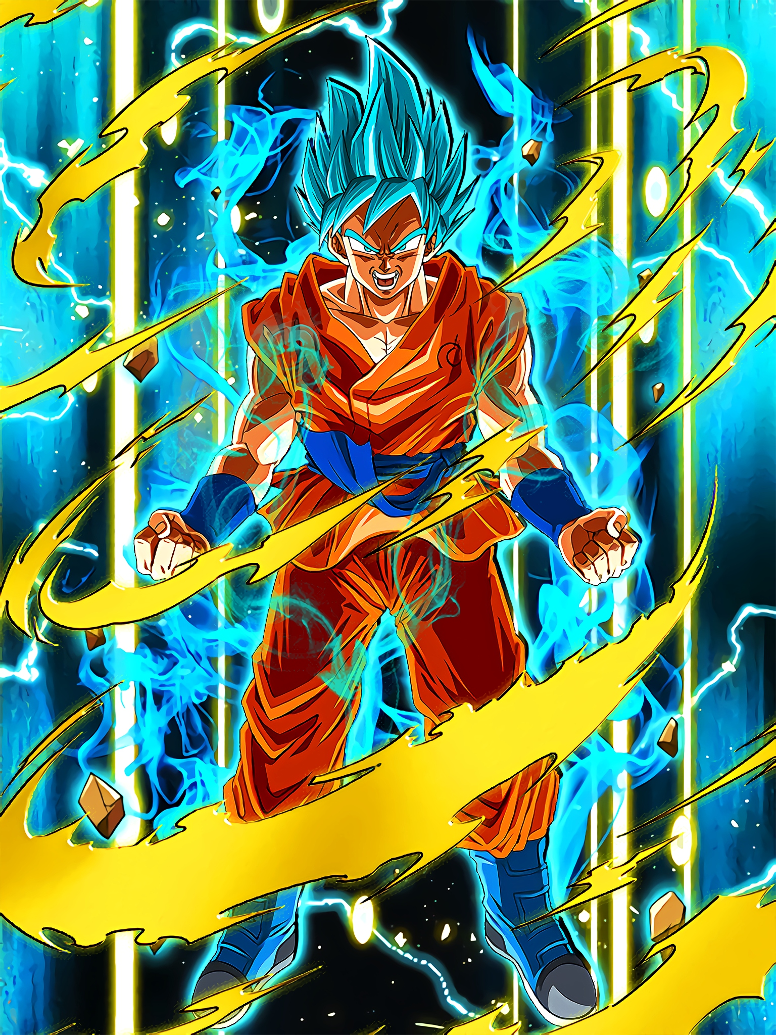 Divine Evolution Super Saiyan God SS Goku Art (Dragon Ball Z Dokkan Battle).jpg