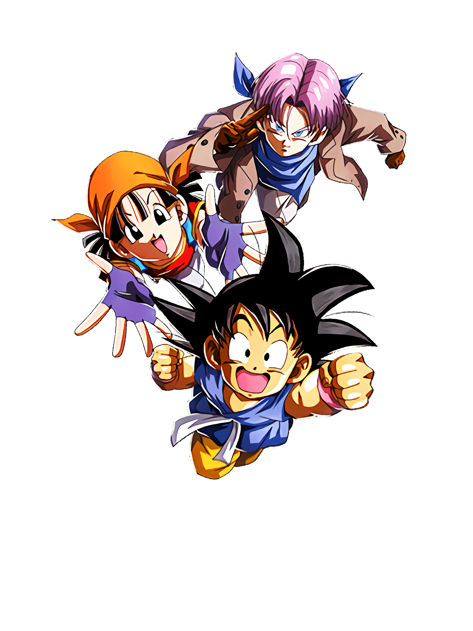 Ongoing Adventure Goku & Pan & Trunks ( ) GT Render (Dragon Ball Z Dokkan Battle).png