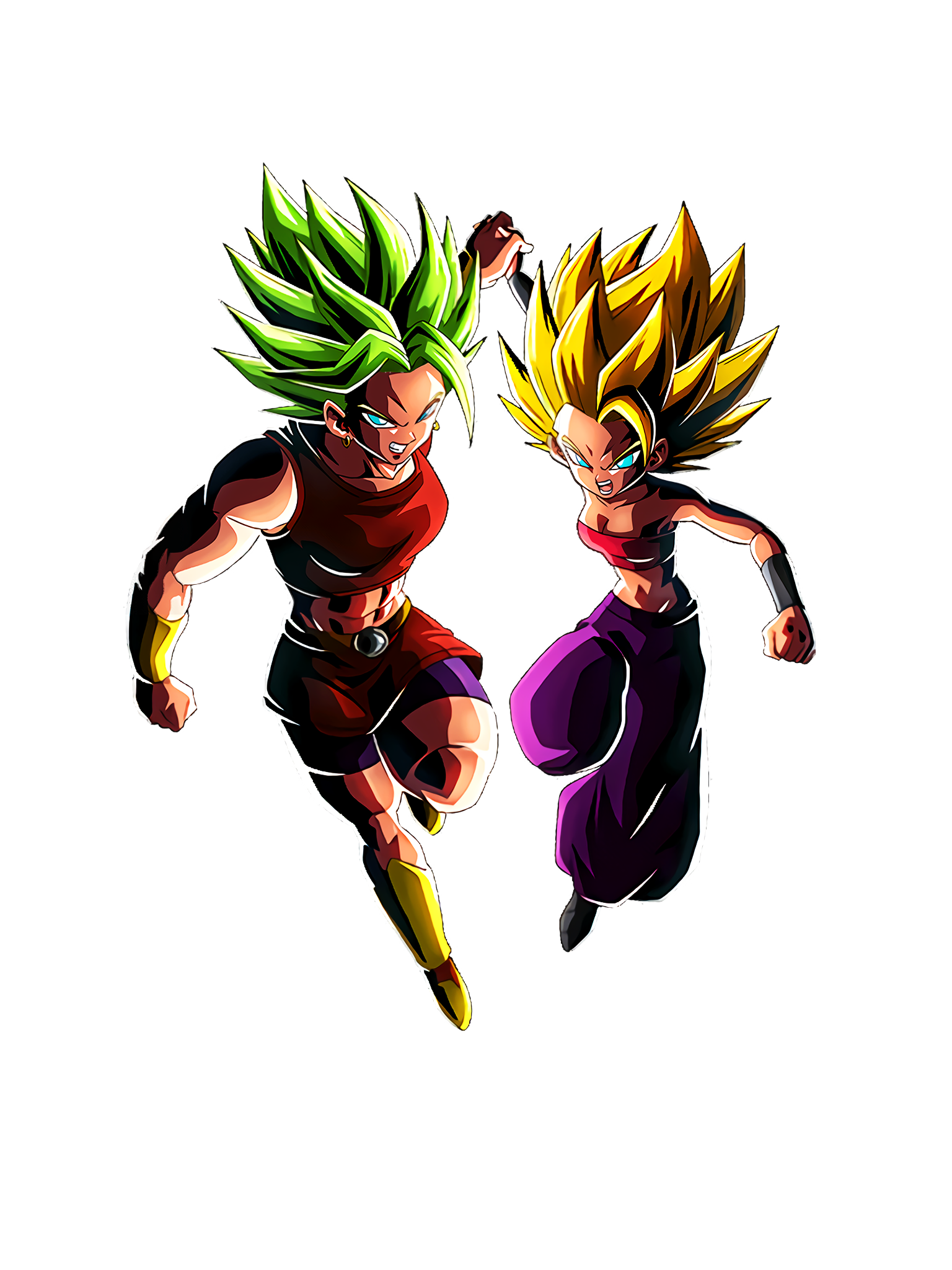 The Two Strongest in All Universes Super Saiyan 2 Caulifla & Super Saiyan 2 Kale DBS Render (Dragon Ball Z Dokkan Battle).png