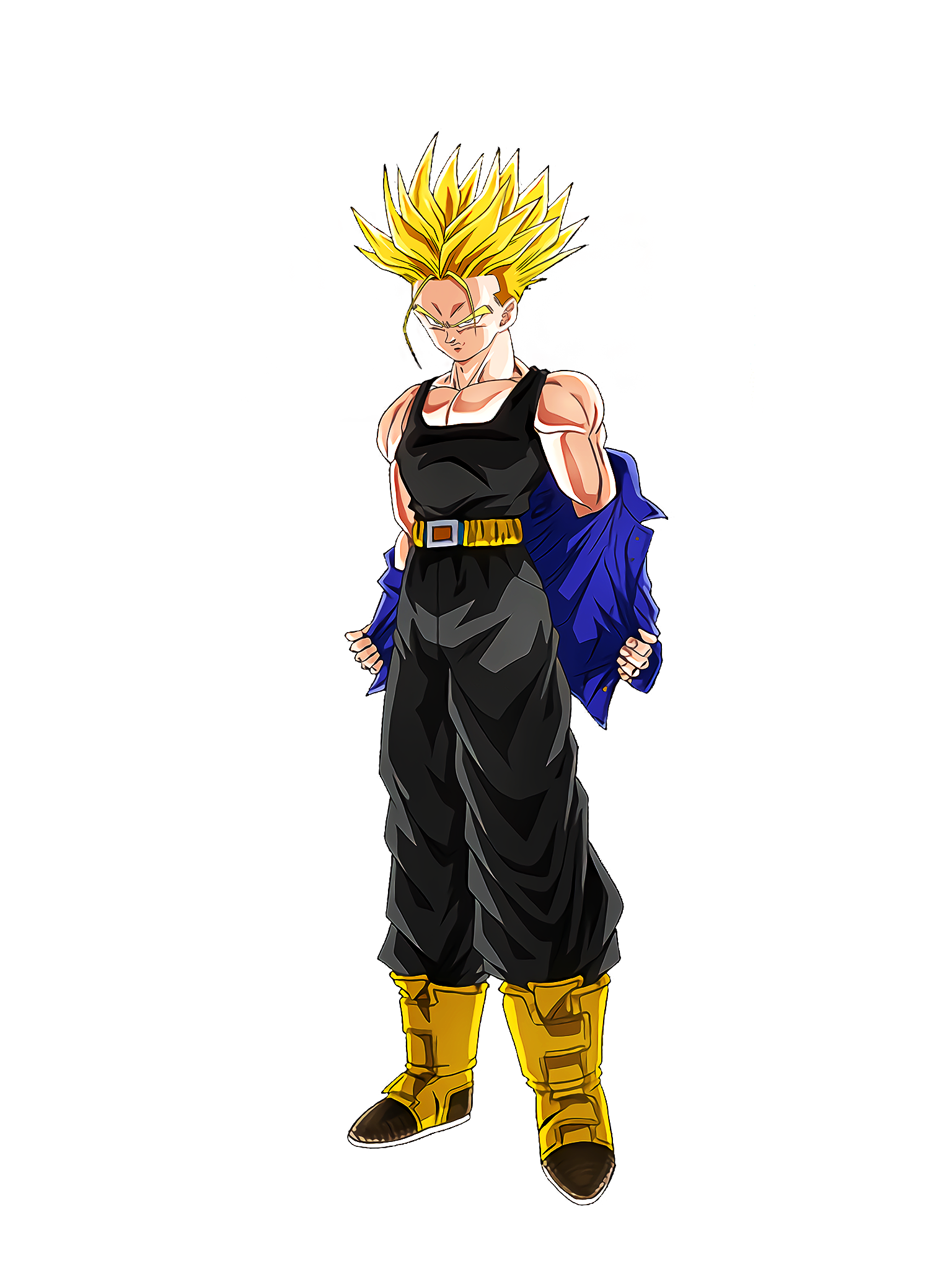 In the World of the Past Super Saiyan Future Trunks Render (Dragon Ball Z Dokkan Battle) .png