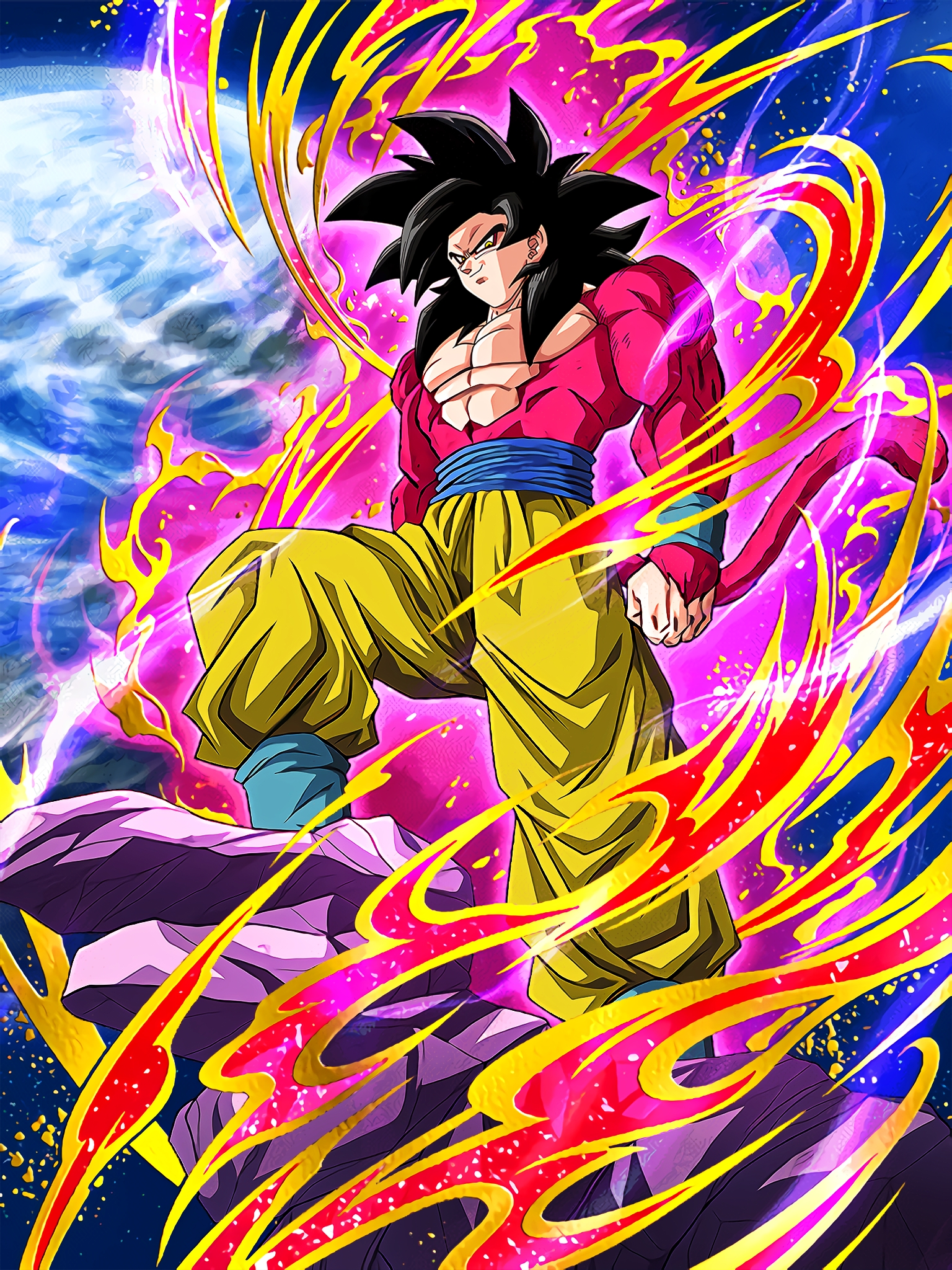 Scarlet Hero Super Saiyan 4 Goku Art (Dragon Ball Z Dokkan Battle) .jpg