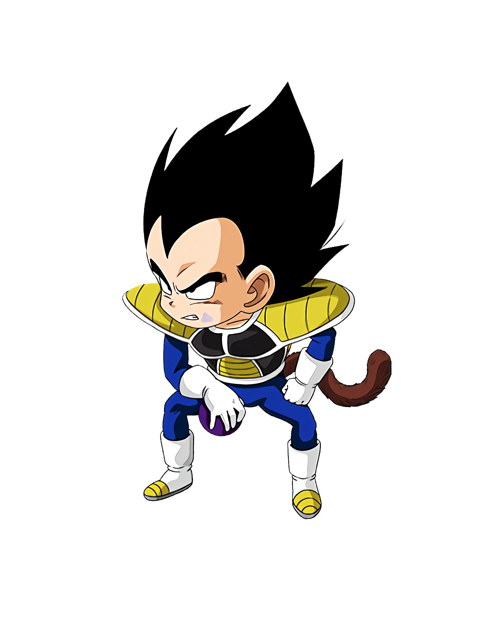 The Surviving Prince Vegeta Kid Render (Dragon Ball Z Dokkan Battle) .png