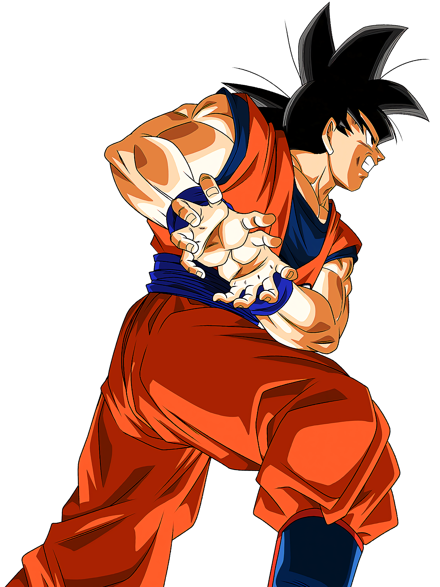 Goku Base Form Pull Summon Animation Render (Dragon Ball Z Dokkan Battle) .png