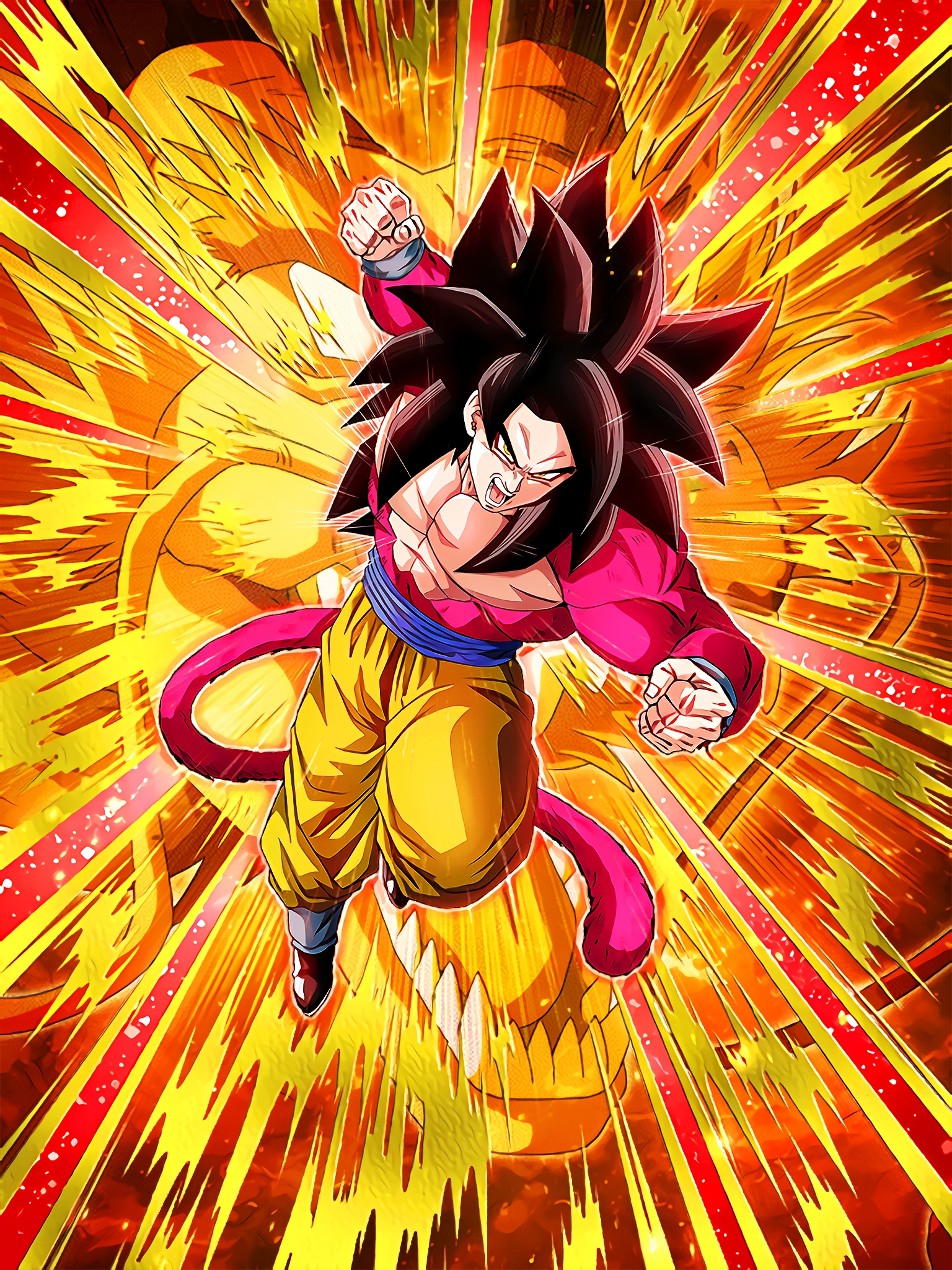 Shouldering the Hopes Full Power Super Saiyan 4 Goku Art (Dragon Ball Z Dokkan Battle) .jpg