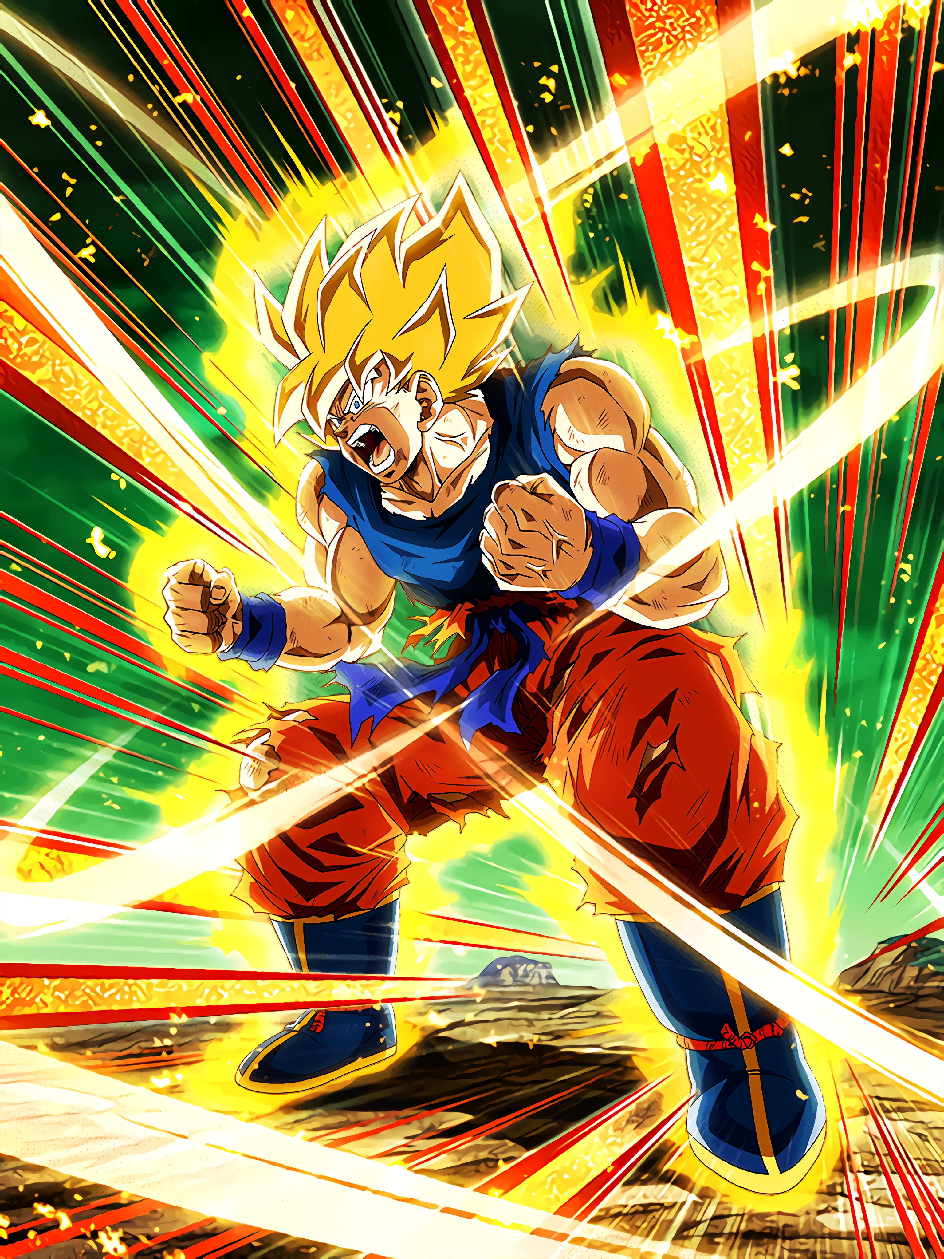 Extreme Rage Super Saiyan Goku Rage Mode Art (Dragon Ball Z Dokkan Battle).jpg