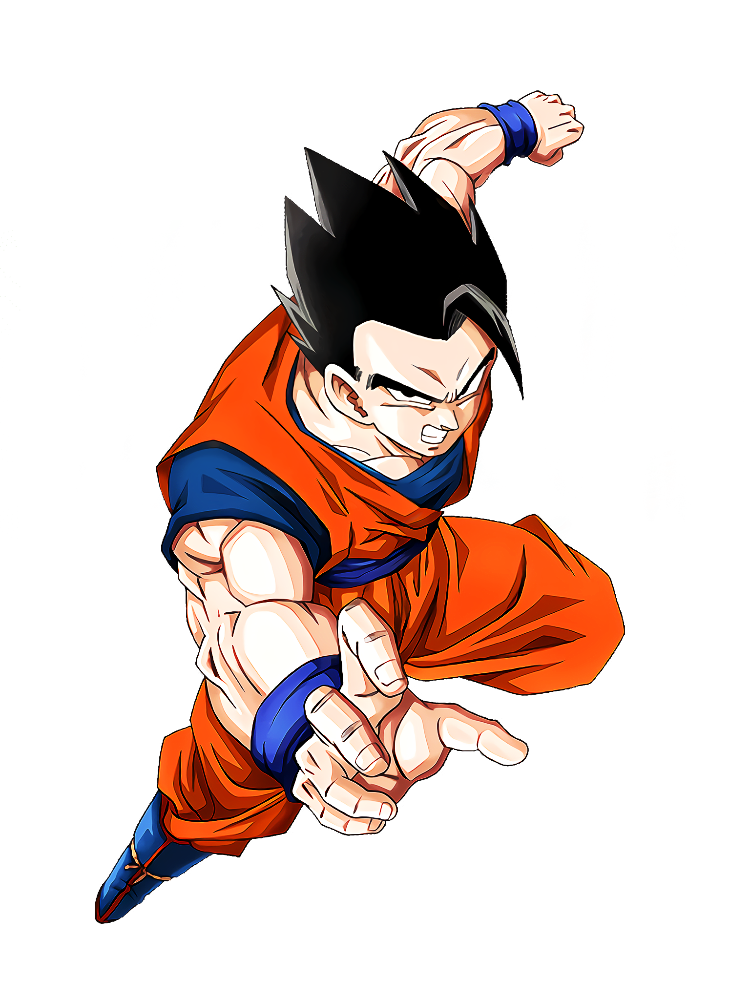 Exceptional Potential Ultimate Gohan Character Render (Dragon Ball Z Dokkan Battle) .png