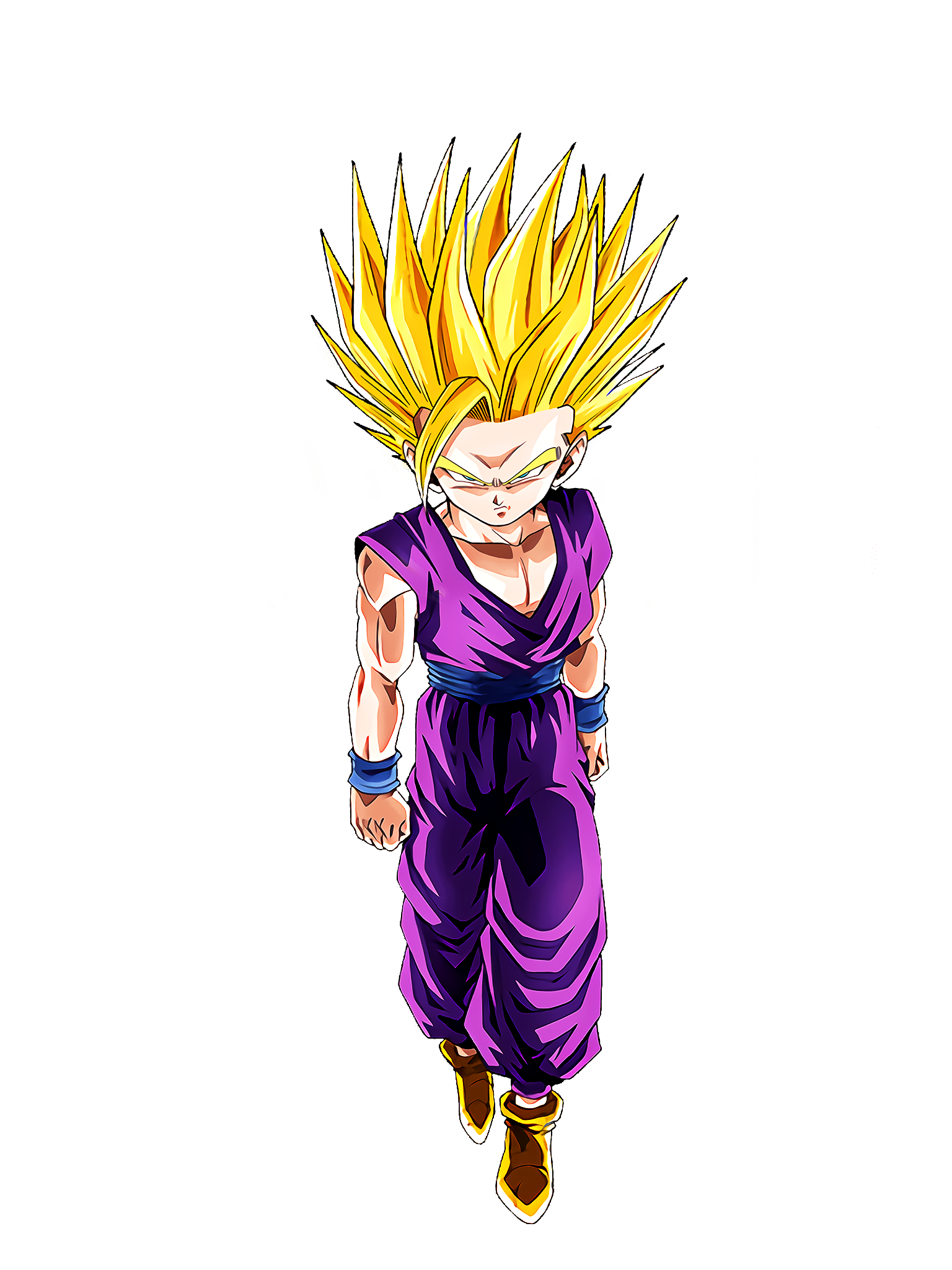 Full Power Clash Super Saiyan 2 Gohan Teen Youth Render (Dragon Ball Z Dokkan Battle) .png