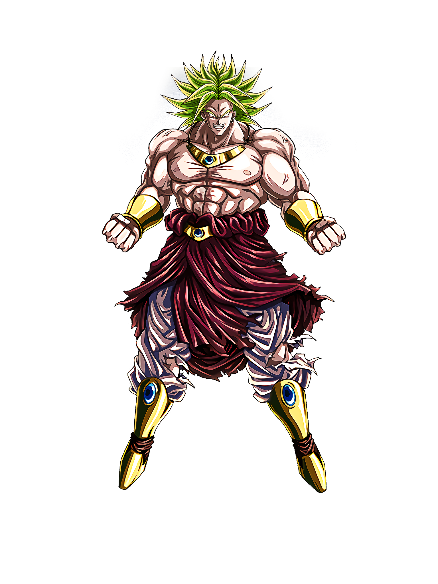 Indestructible Saiyan Evil Legendary Super Saiyan Broly Render (Dragon Ball Z Dokkan Battle) .png