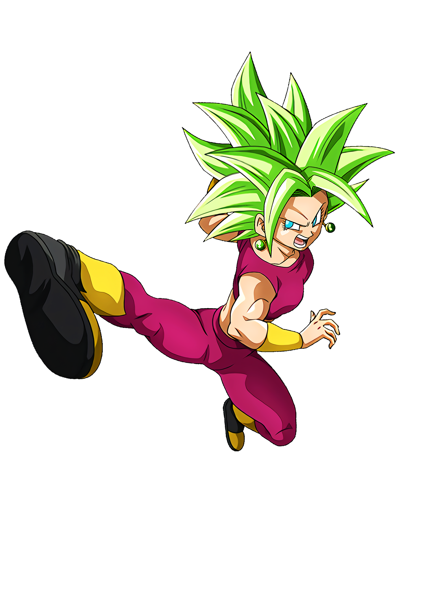 Limit-Breaking Heights Super Saiyan Kefla DBS Render (Dragon Ball Z Dokkan Battle).png