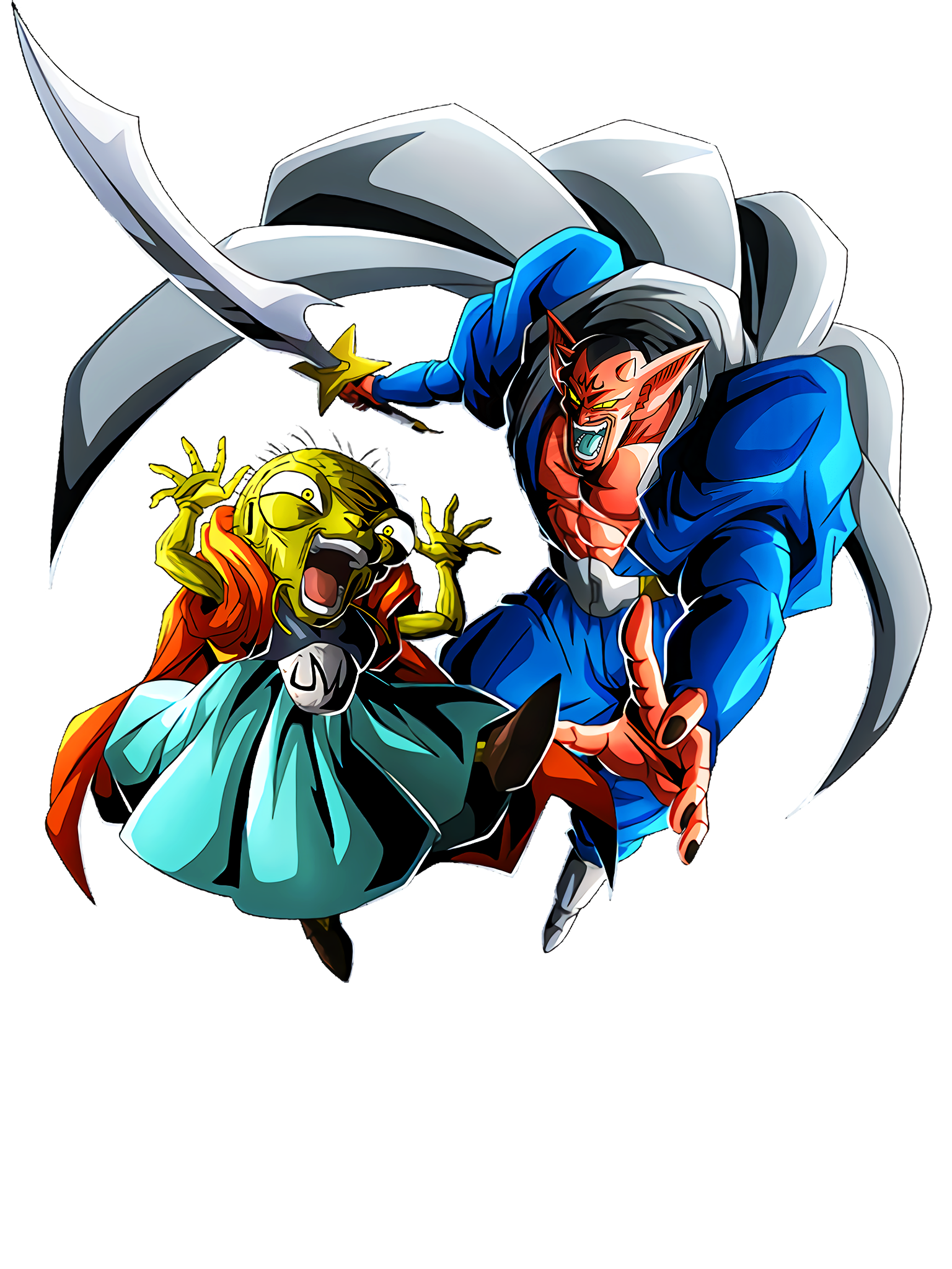 The Evil Sorcerer and The King of the Demon Realm Babidi & Dabura Render (Dragon Ball Z Dokkan Battle) .png