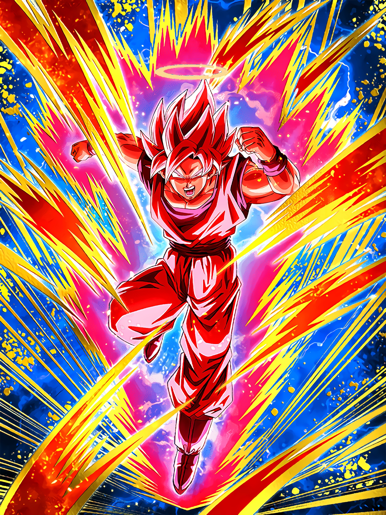 Victory-Sealing Super Attack Super Saiyan Goku Angel Super Kaioken Art (Dragon Ball Z Dokkan Battle).jpg