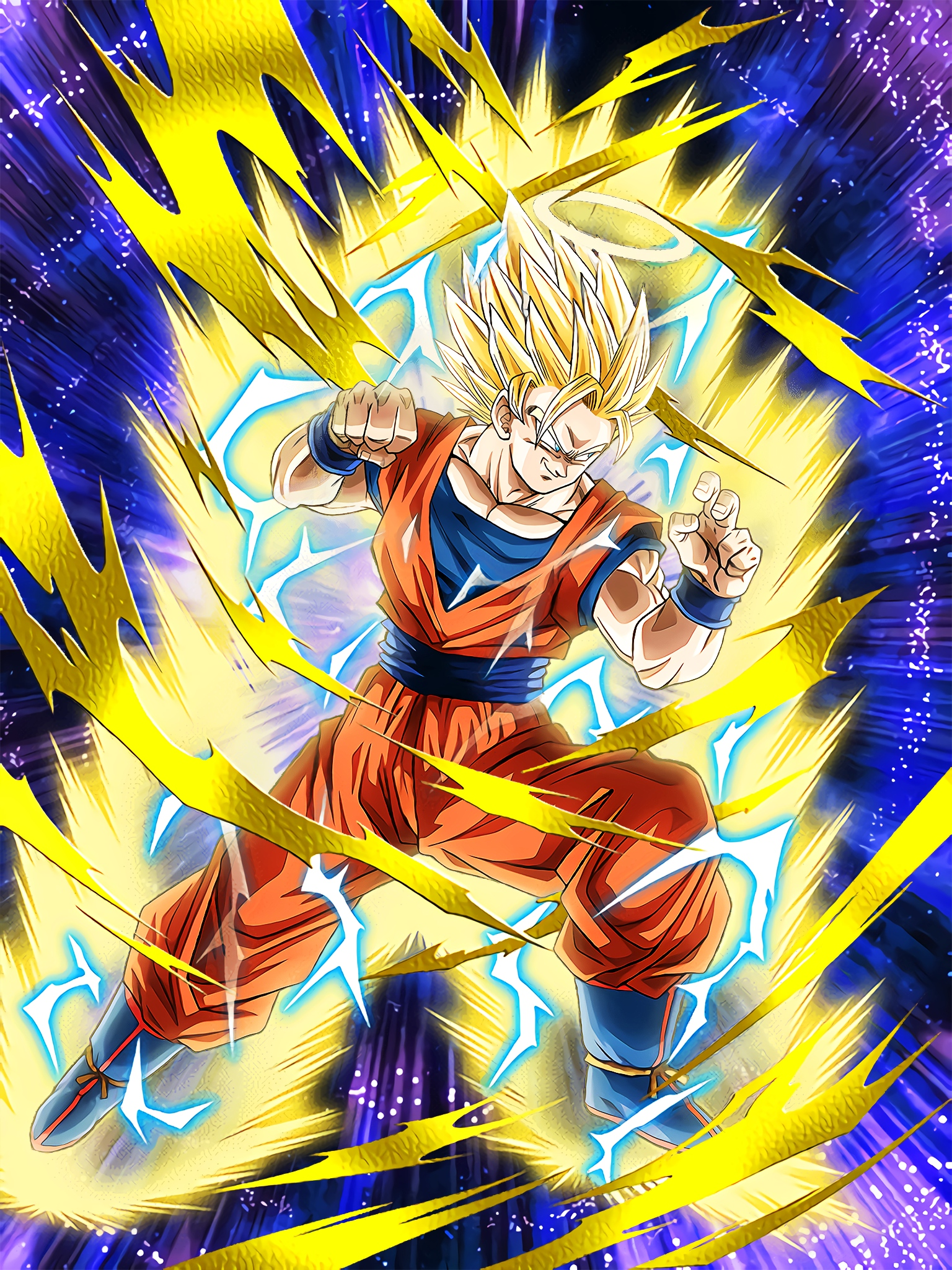 Instinct of the Warrior Race Super Saiyan 2 Goku Angel Art (Dragon Ball Z Dokkan Battle).jpg
