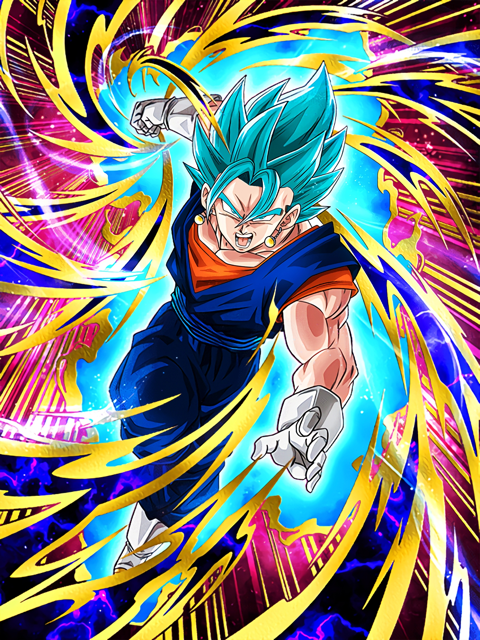 Azure Omnipotence Super Saiyan God SS Vegito Art (Dragon Ball Z Dokkan Battle).jpg