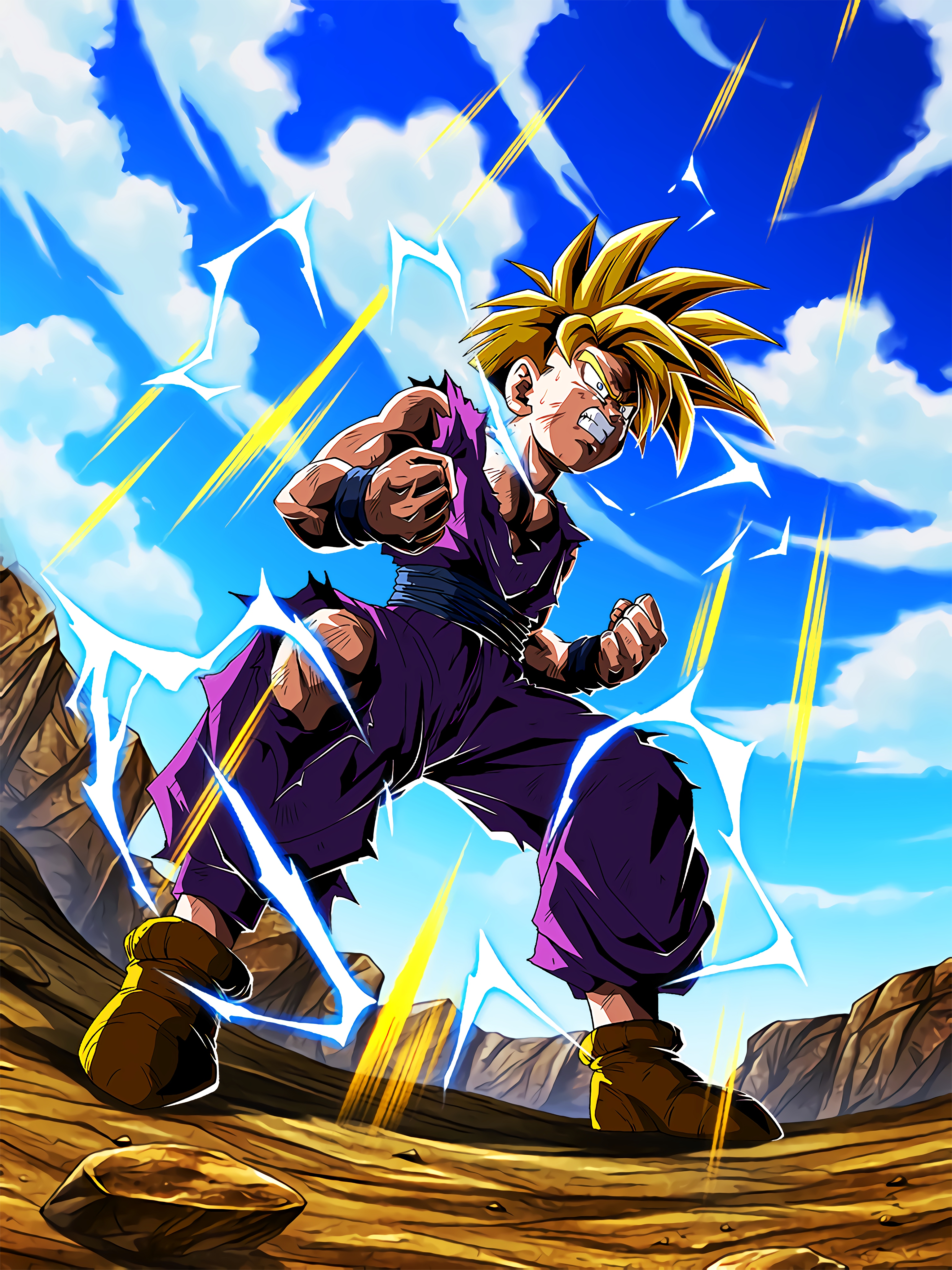 The True Power to Awaken Super Saiyan Gohan Youth Art (Dragon Ball Z Dokkan Battle).jpg