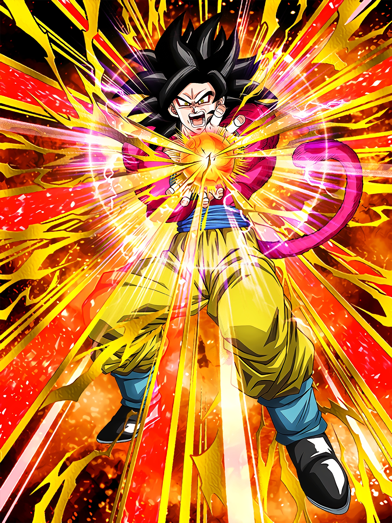 Ultimate Super Saiyan Super Saiyan 4 Goku Art (Dragon Ball Z Dokkan Battle) .jpg