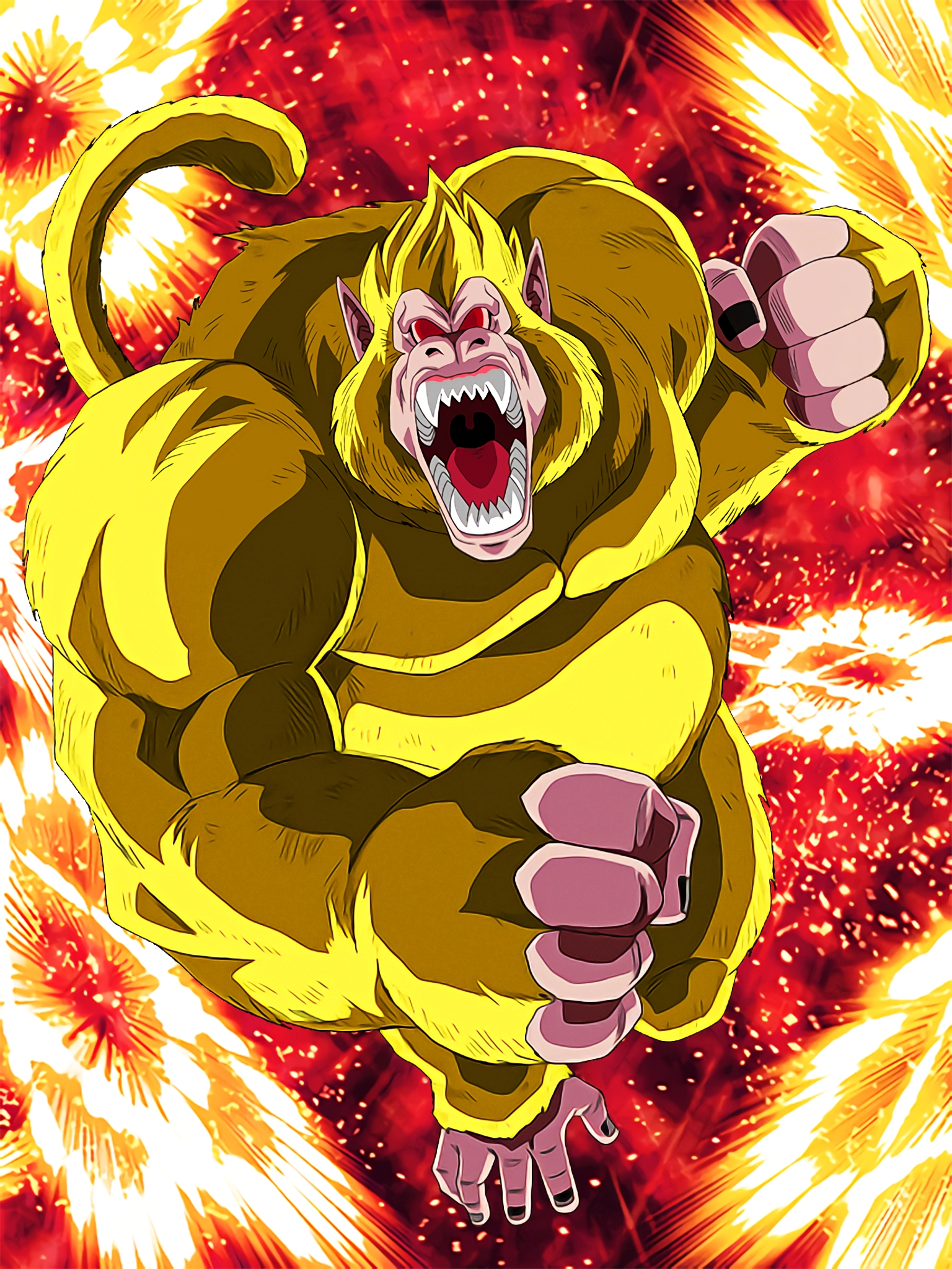 Inklings of Ultimate Power Super Saiyan 3 Goku GT Golden Giant Ape Art (Dragon Ball Z Dokkan Battle) .jpg