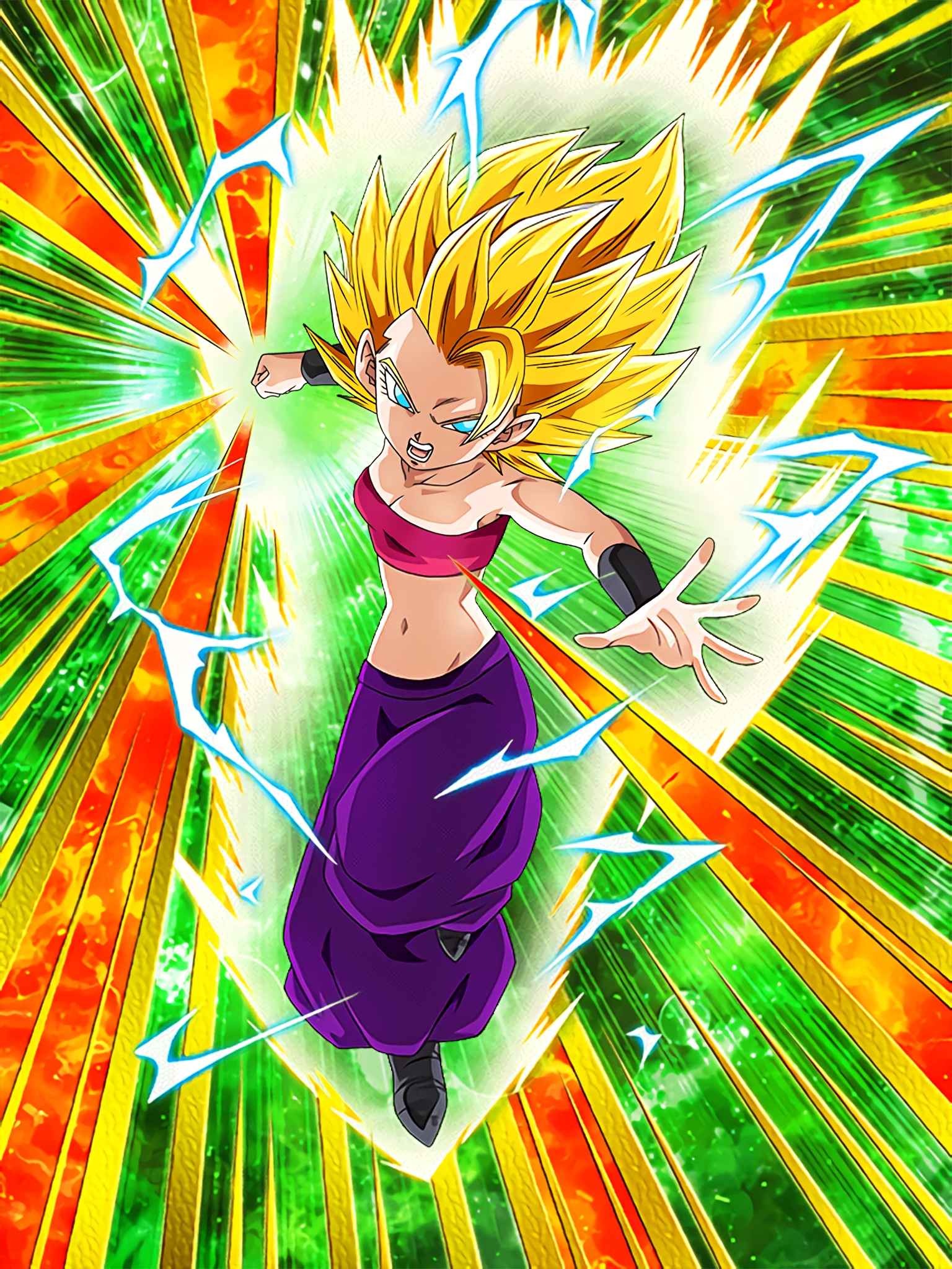 Motivation to Fight Super Saiyan 2 Caulifla Art (Dragon Ball Z Dokkan Battle)