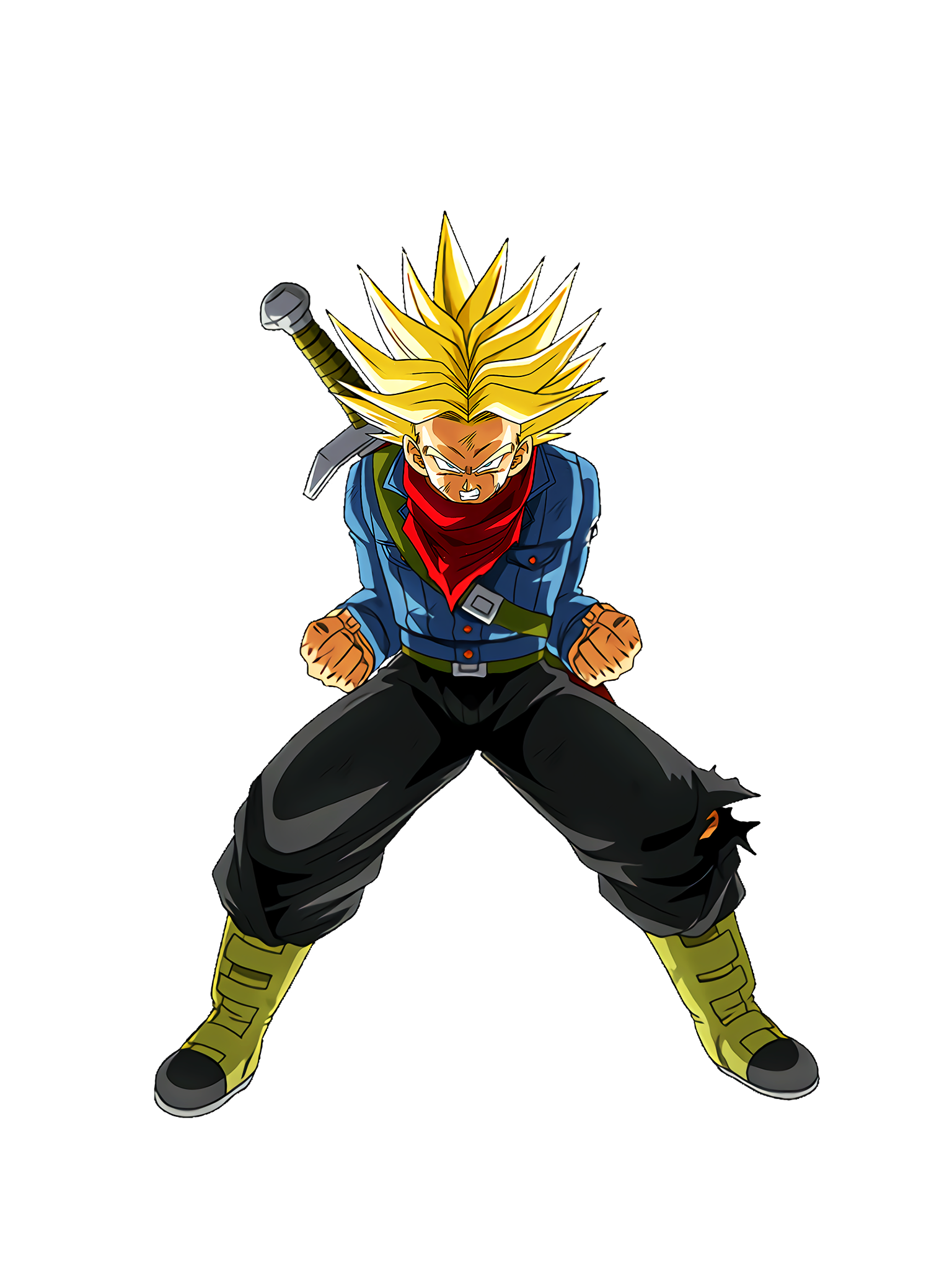 Anger Resistance Super Saiyan Trunks Future DBS Render (Dragon Ball Z Dokkan Battle).png