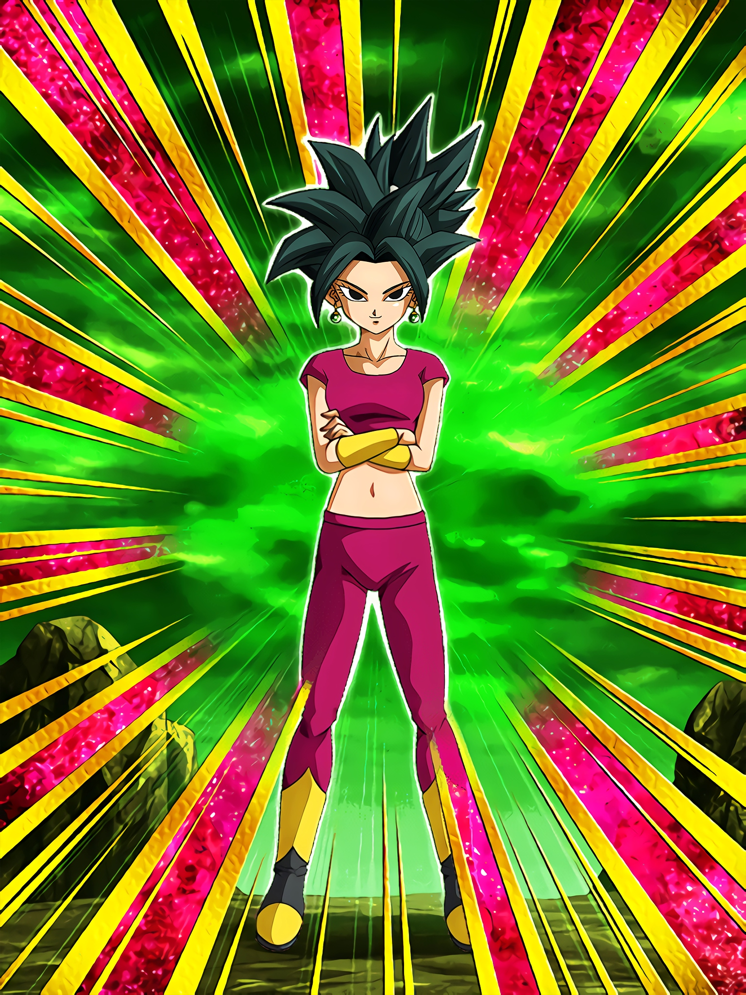 Universe 6 Trump Card Kefla Art (Dragon Ball Z Dokkan Battle)