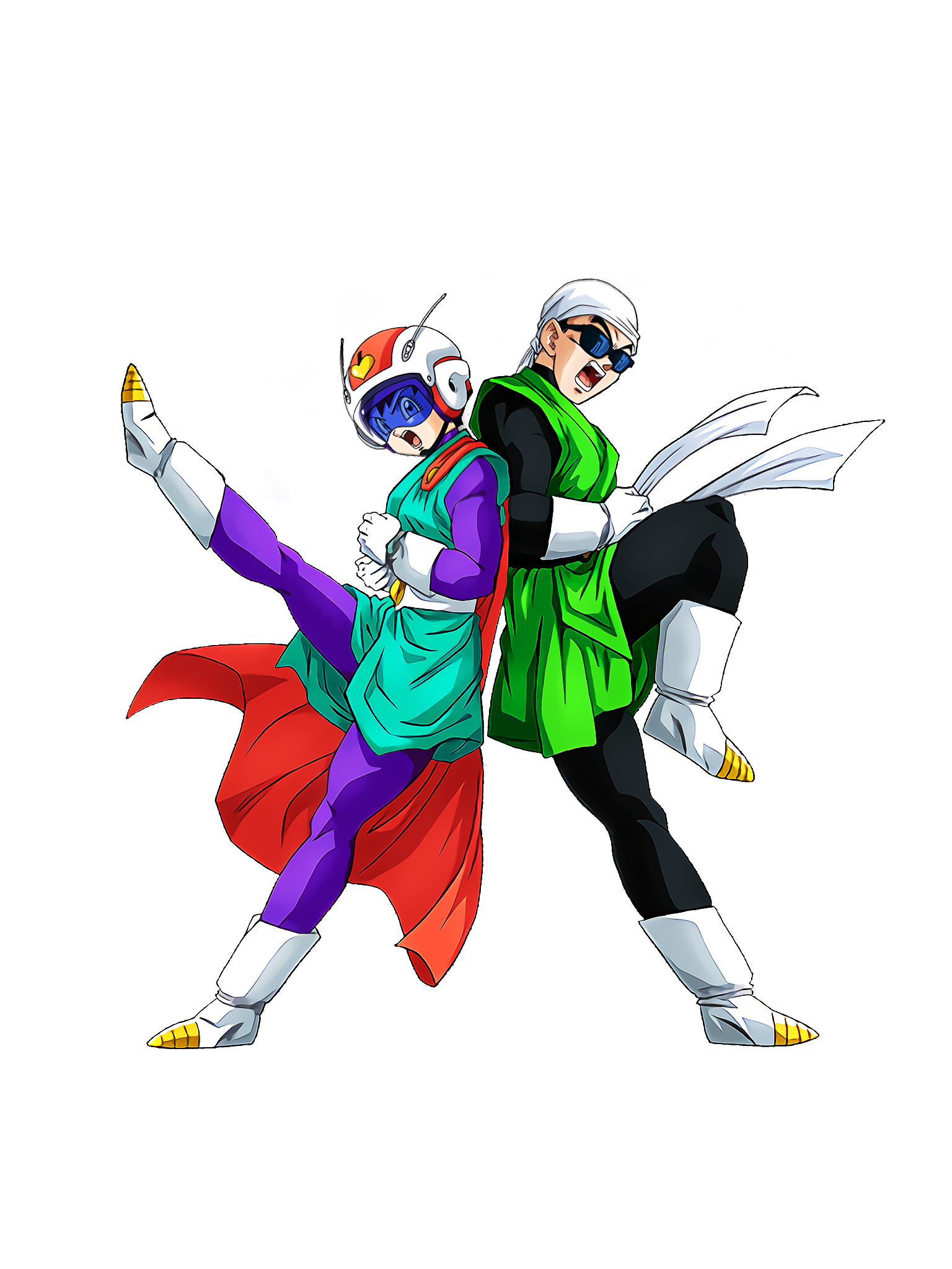 Grand Arrival on the Scene Great Saiyaman 1 & 2 Render (Dragon Ball Z Dokkan Battle) .png