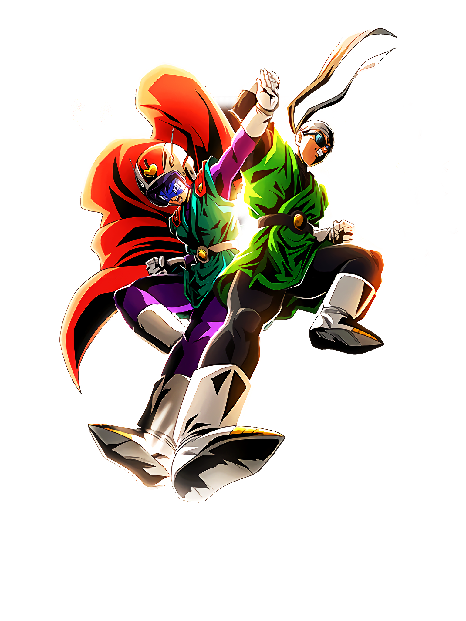 Blazing Love and Burning Justice Great Saiyaman 1 & 2 Render (Dragon Ball Z Dokkan Battle) .png
