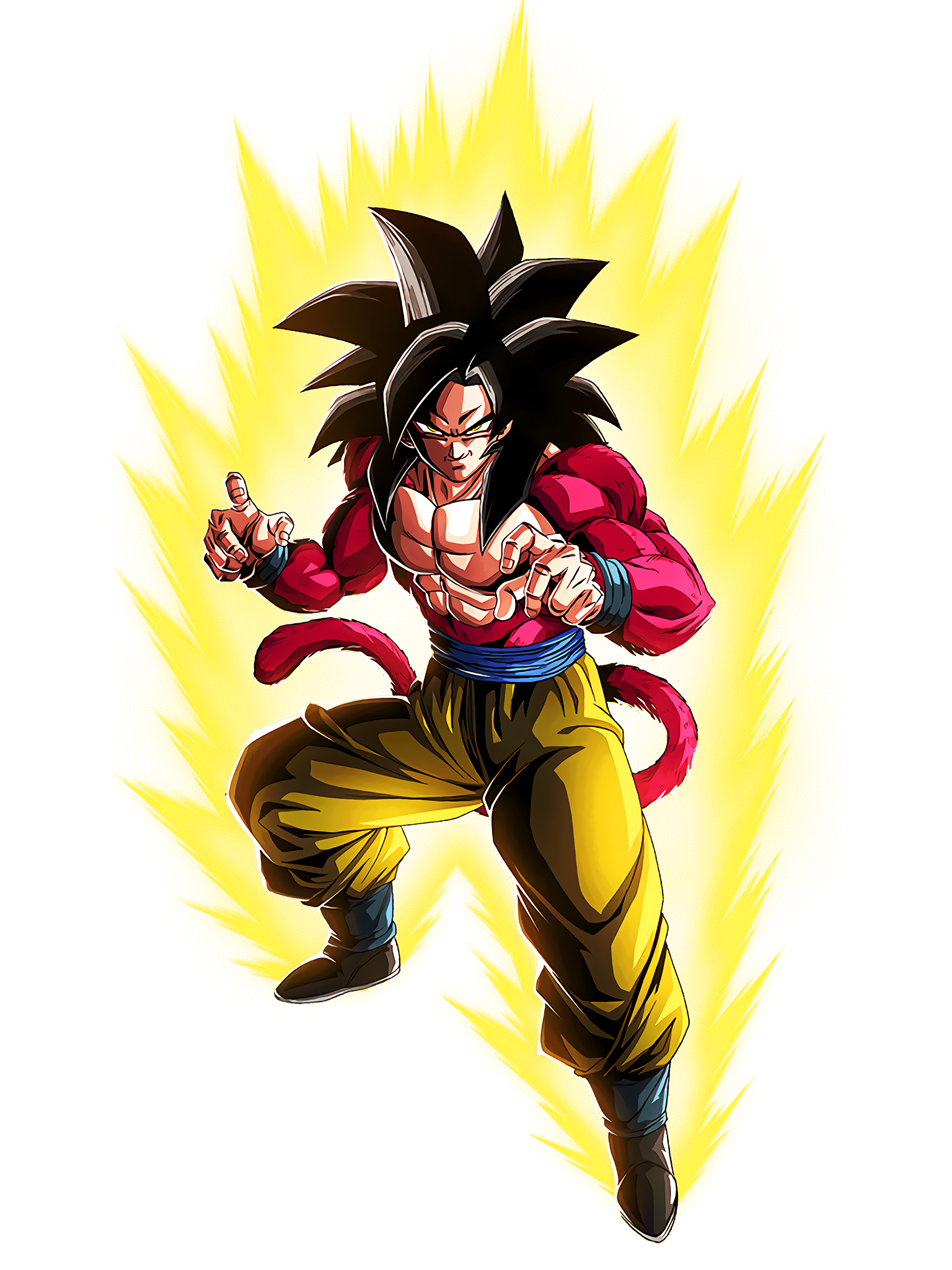 The Point of the Strongest Saiyan SSJ4 Goku GT Render (Dragon Ball Z Dokkan Battle).png