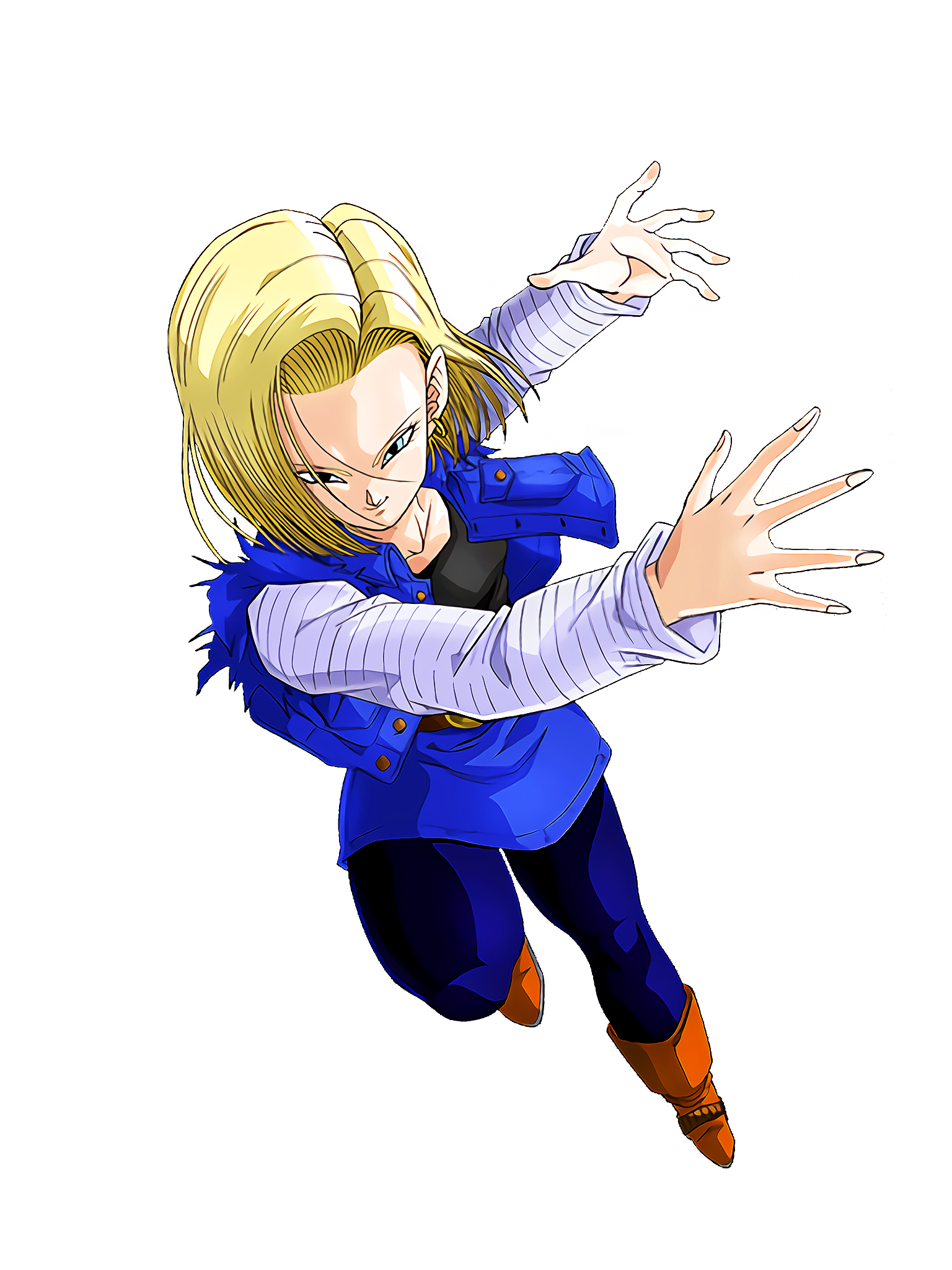 A Ghostly Devastation Android 18 Future Render (Dragon Ball Z Dokkan Battle) .png